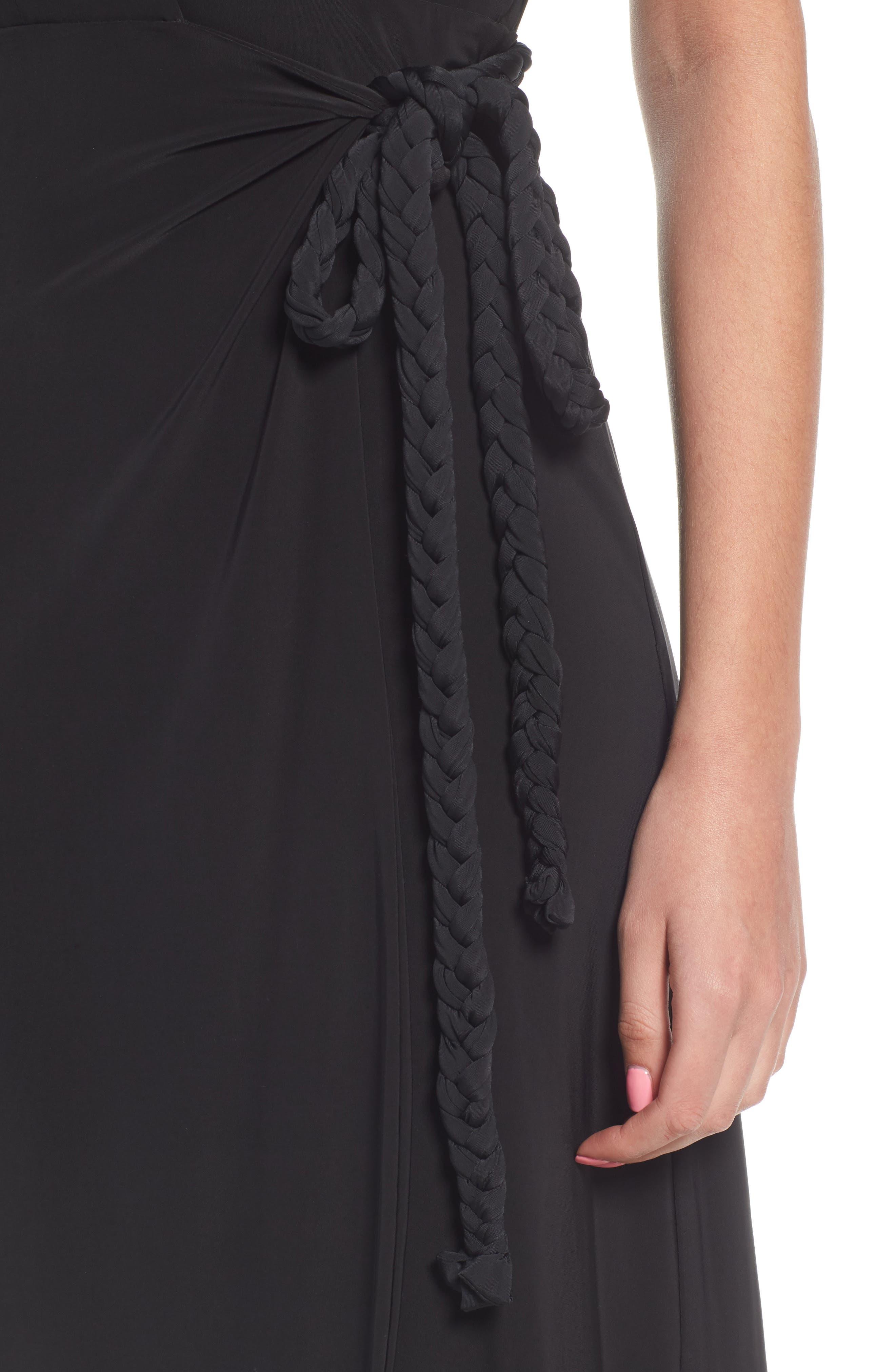 Irina Dress,                             Alternate thumbnail 4, color,                             BLACK