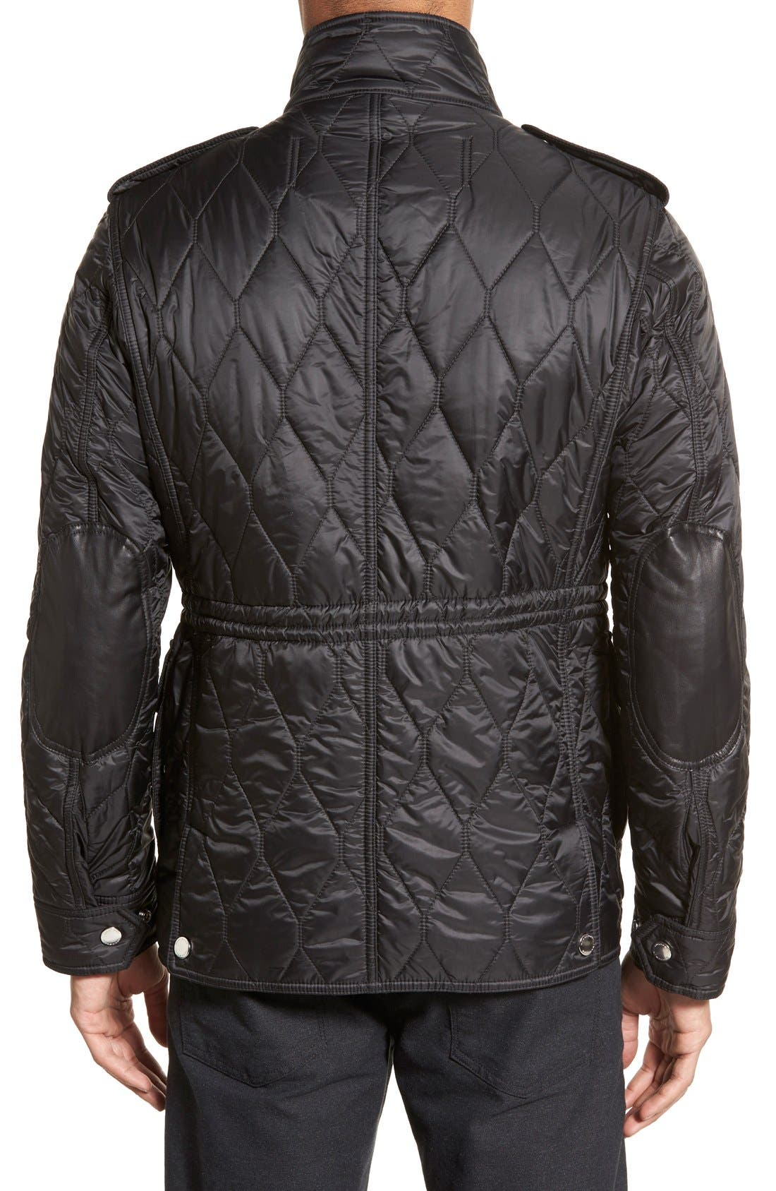Brit 'Garrington' Quilted Field Jacket,                             Alternate thumbnail 3, color,                             001