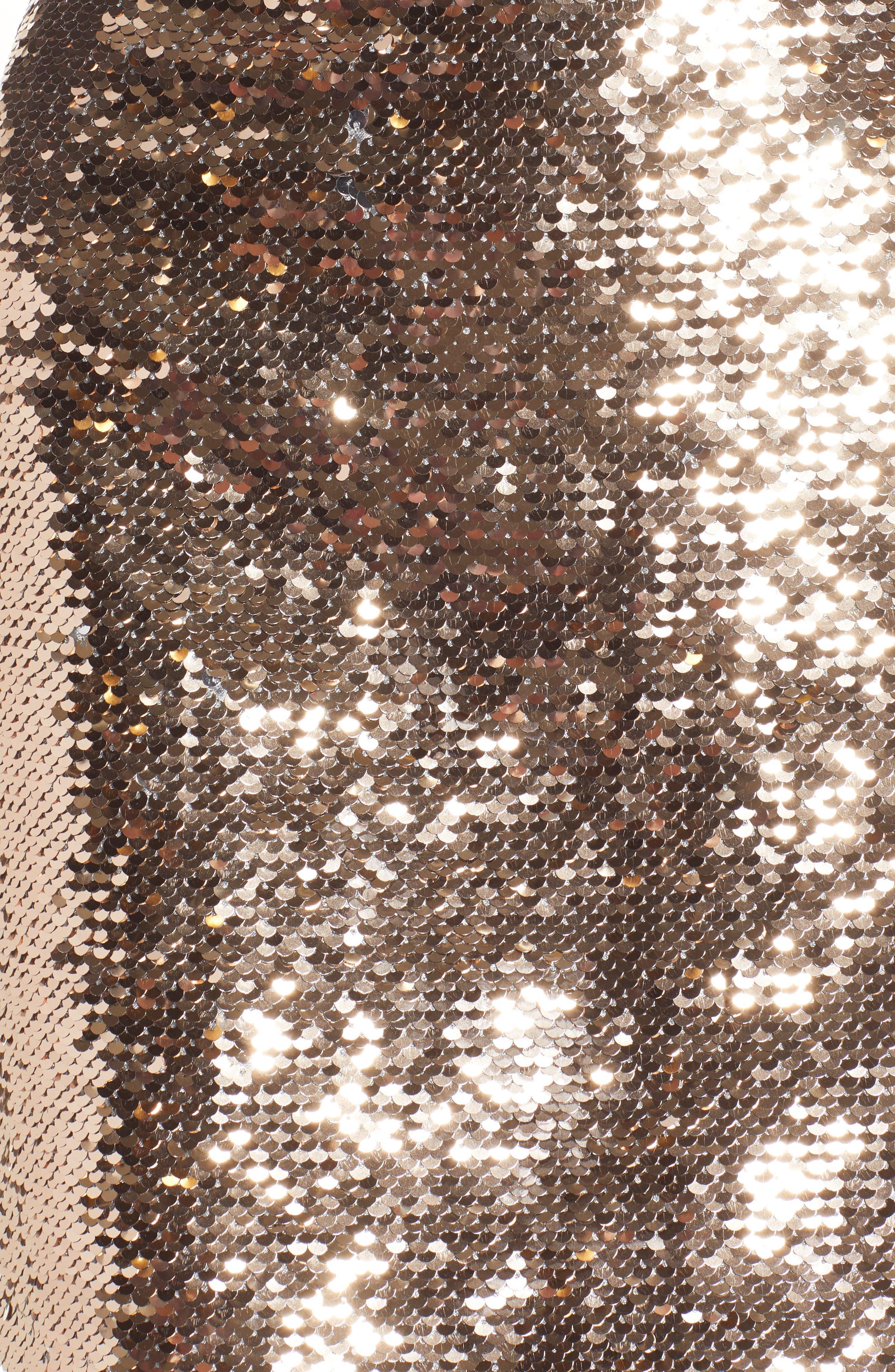 Sequin Miniskirt,                             Alternate thumbnail 5, color,                             ROSE