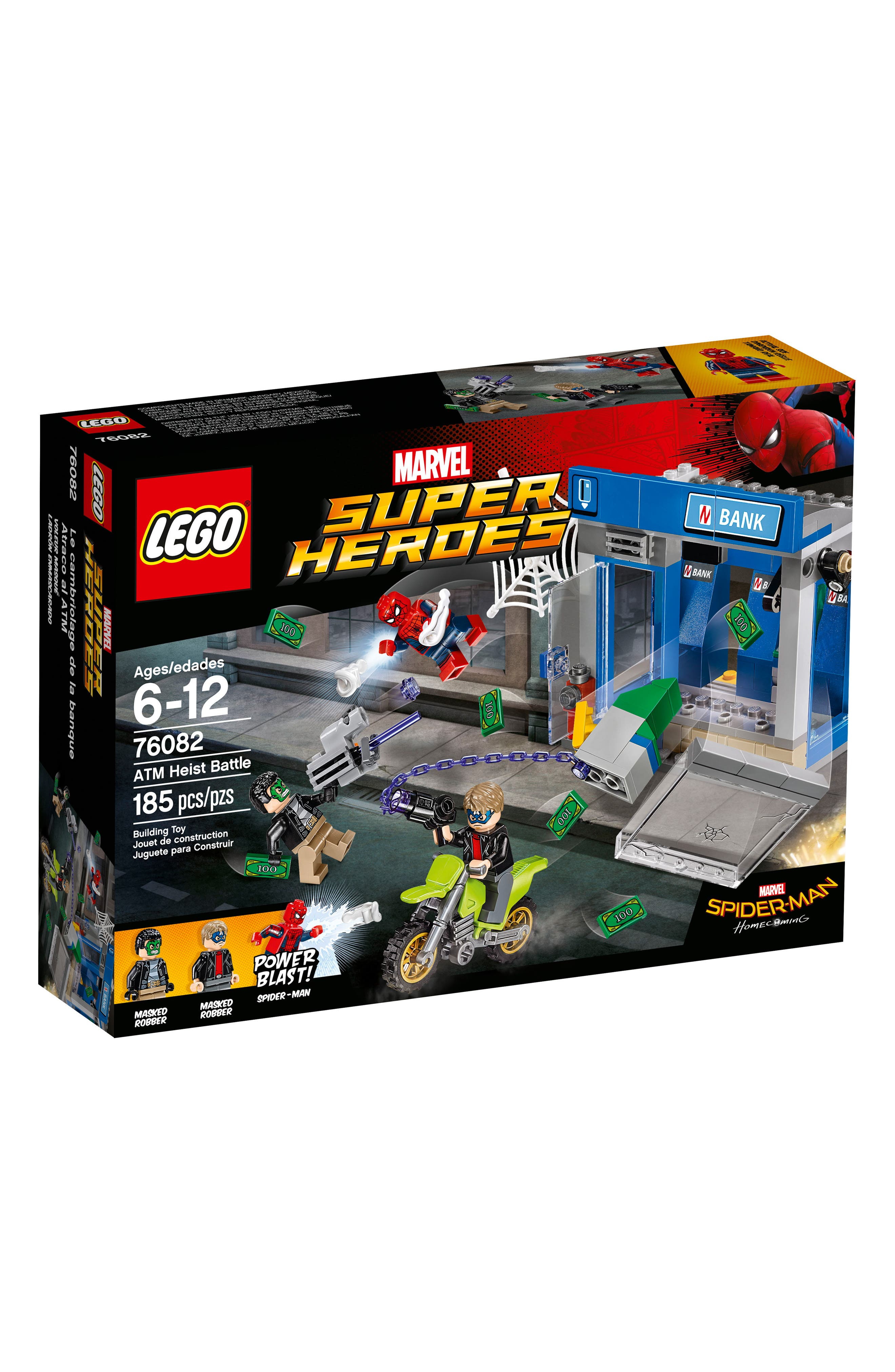Marvel Super Heroes Spider-Man ATM Heist Battle Set - 76082,                             Main thumbnail 1, color,                             400