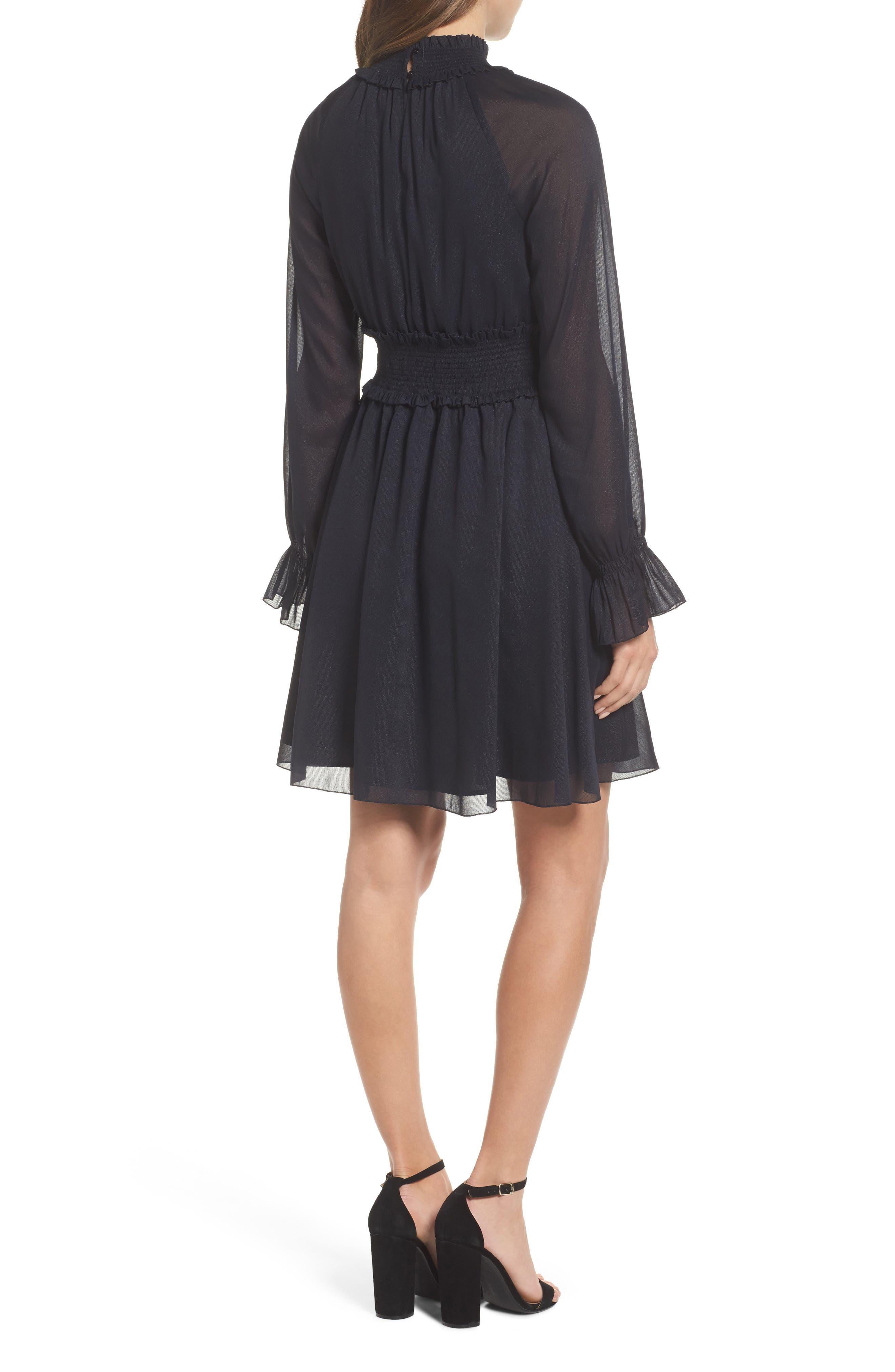 Smocked Long Sleeve Dress,                             Alternate thumbnail 2, color,                             410