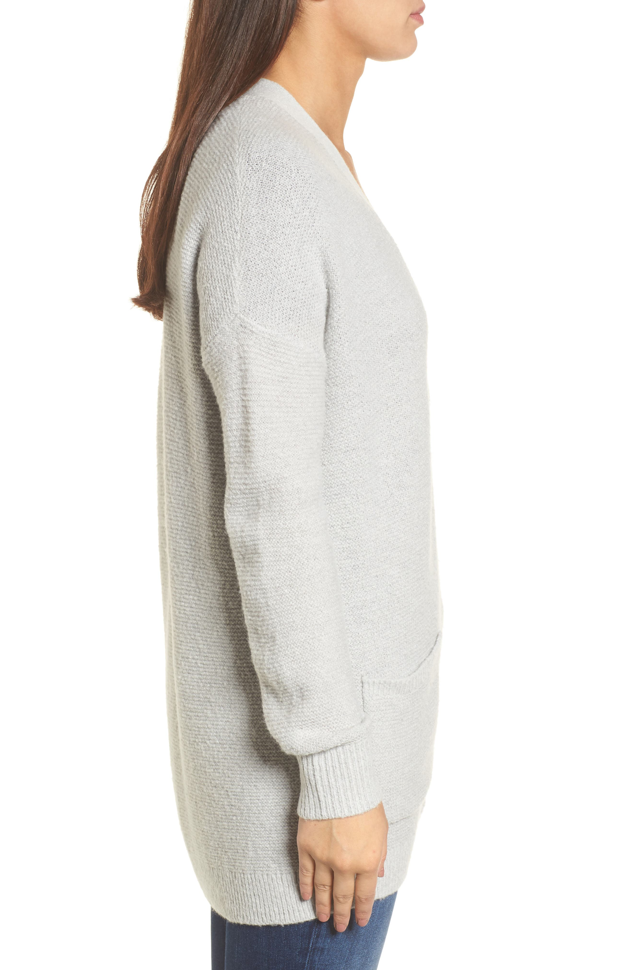 Relaxed Boyfriend Cardigan,                             Alternate thumbnail 3, color,                             050