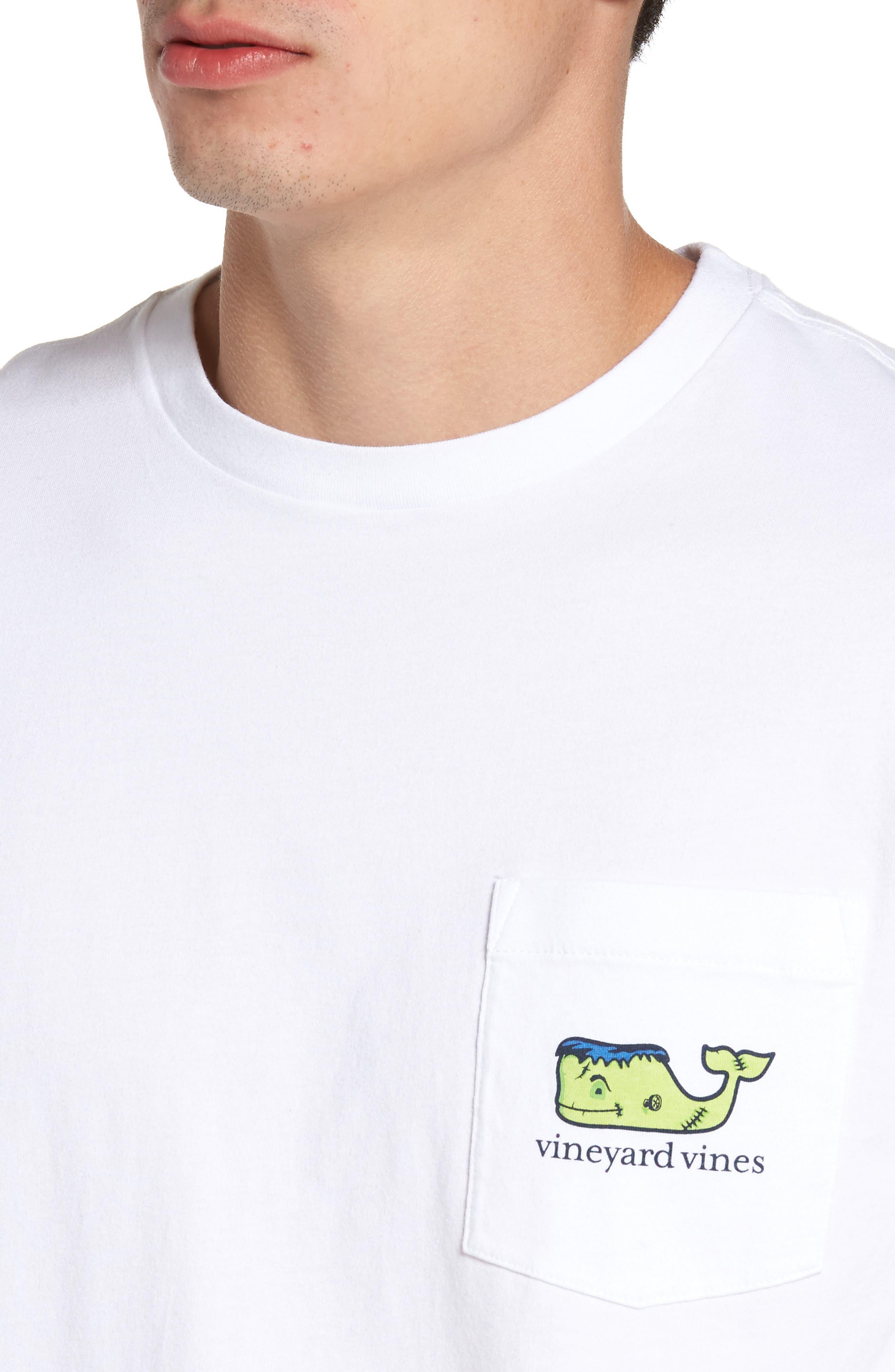 Frankenstein Whale Graphic Long Sleeve T-Shirt,                             Alternate thumbnail 4, color,                             100