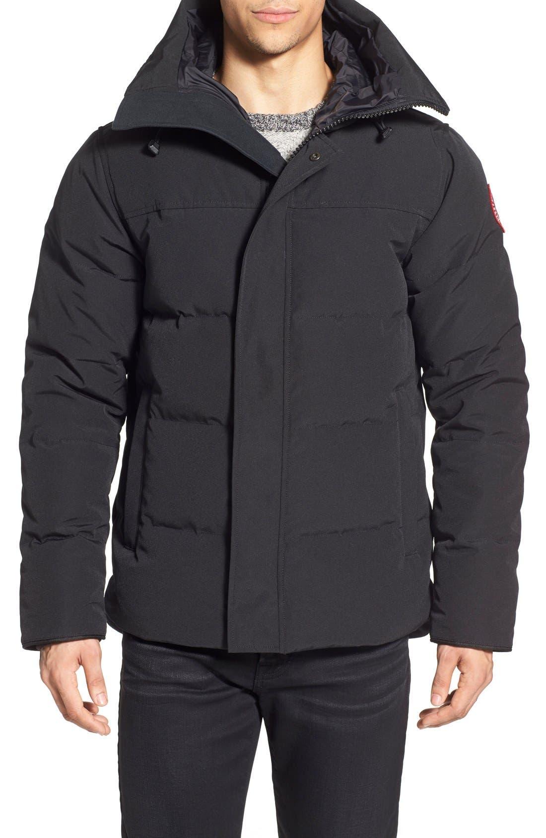 'MacMillan' Slim Fit Hooded Parka,                         Main,                         color, BLACK