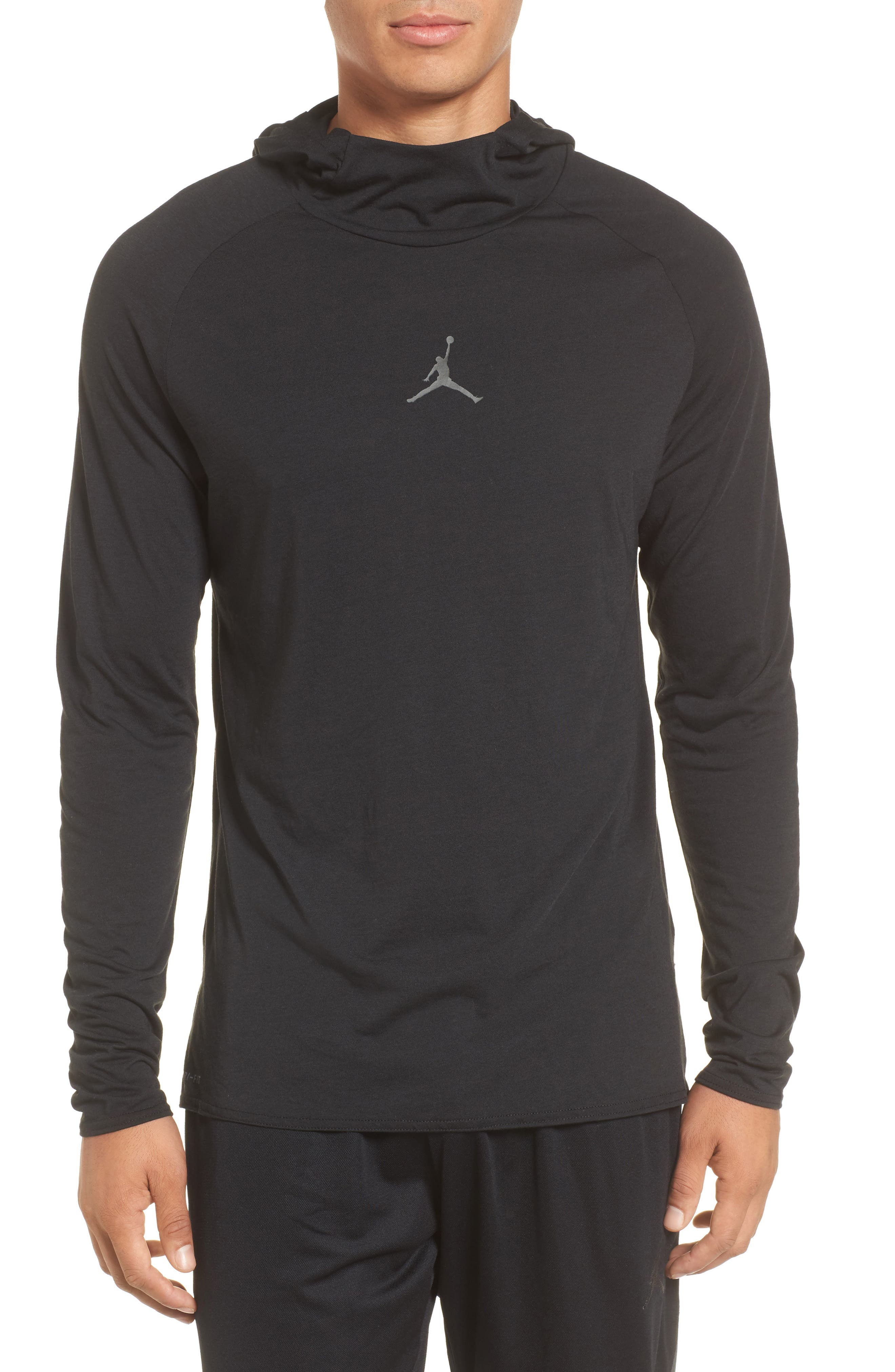 Nike Dry 23 Alpha Hooded Shirt,                             Main thumbnail 1, color,                             010
