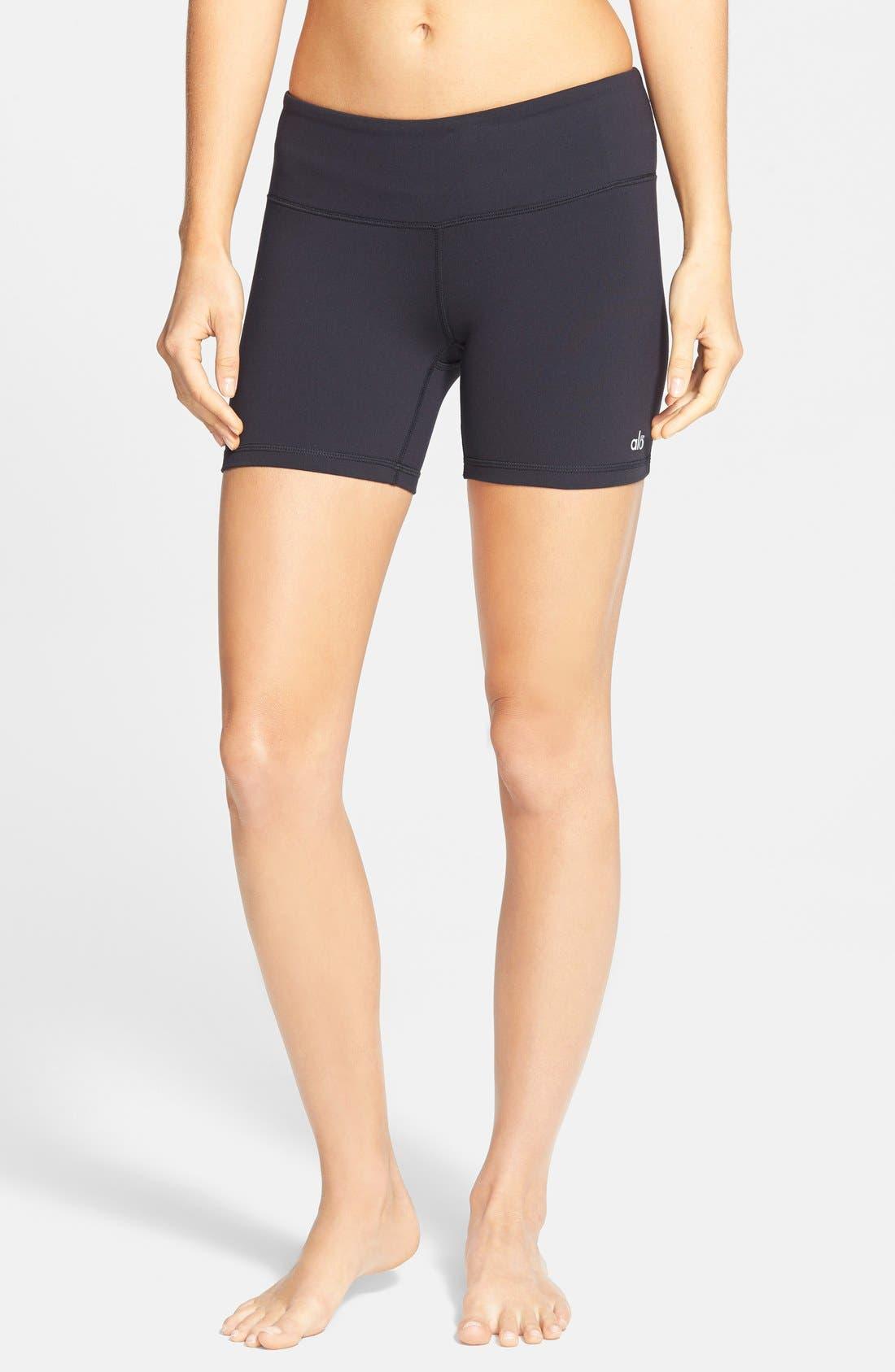 'Burn' Shorts,                             Main thumbnail 1, color,                             BLACK