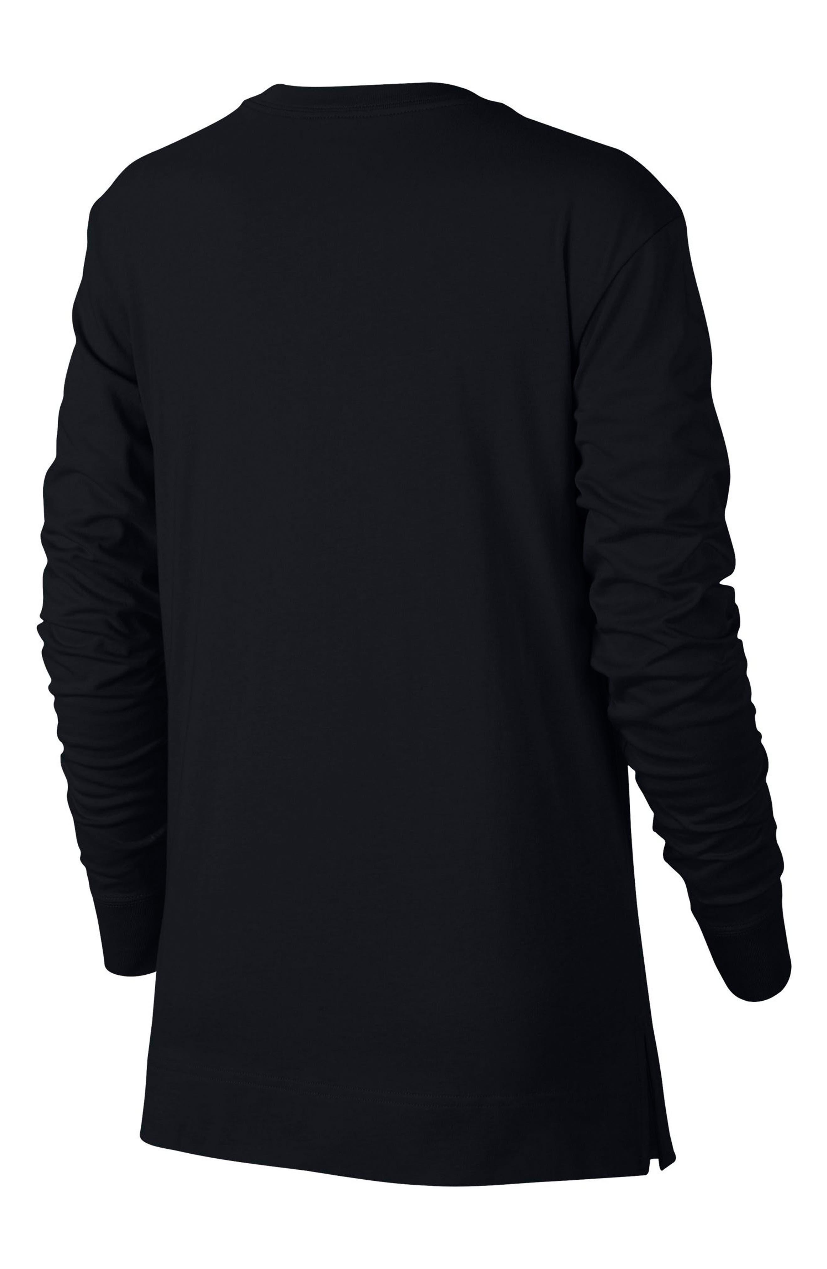 Sportswear HBR Women's Long Sleeve Tee,                             Alternate thumbnail 2, color,                             010
