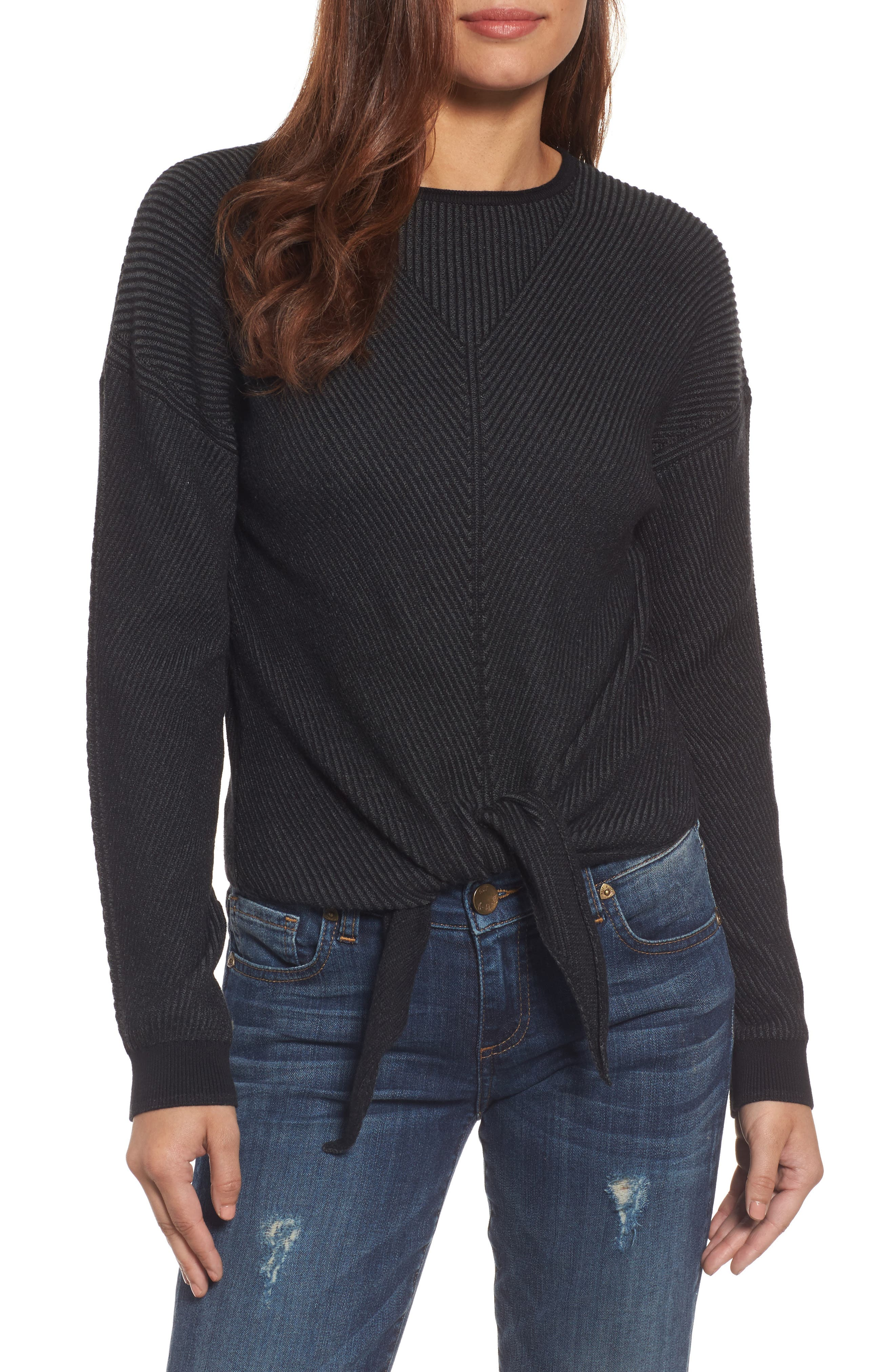 Tie Front Sweater,                             Main thumbnail 1, color,                             010