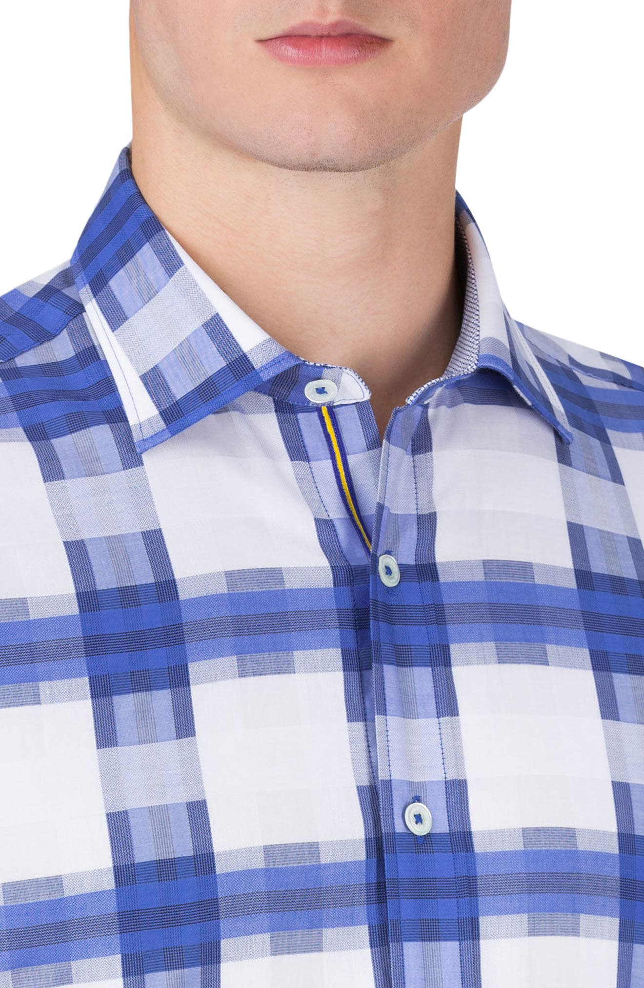 Classic Fit Check Sport Shirt,                             Alternate thumbnail 3, color,                             422