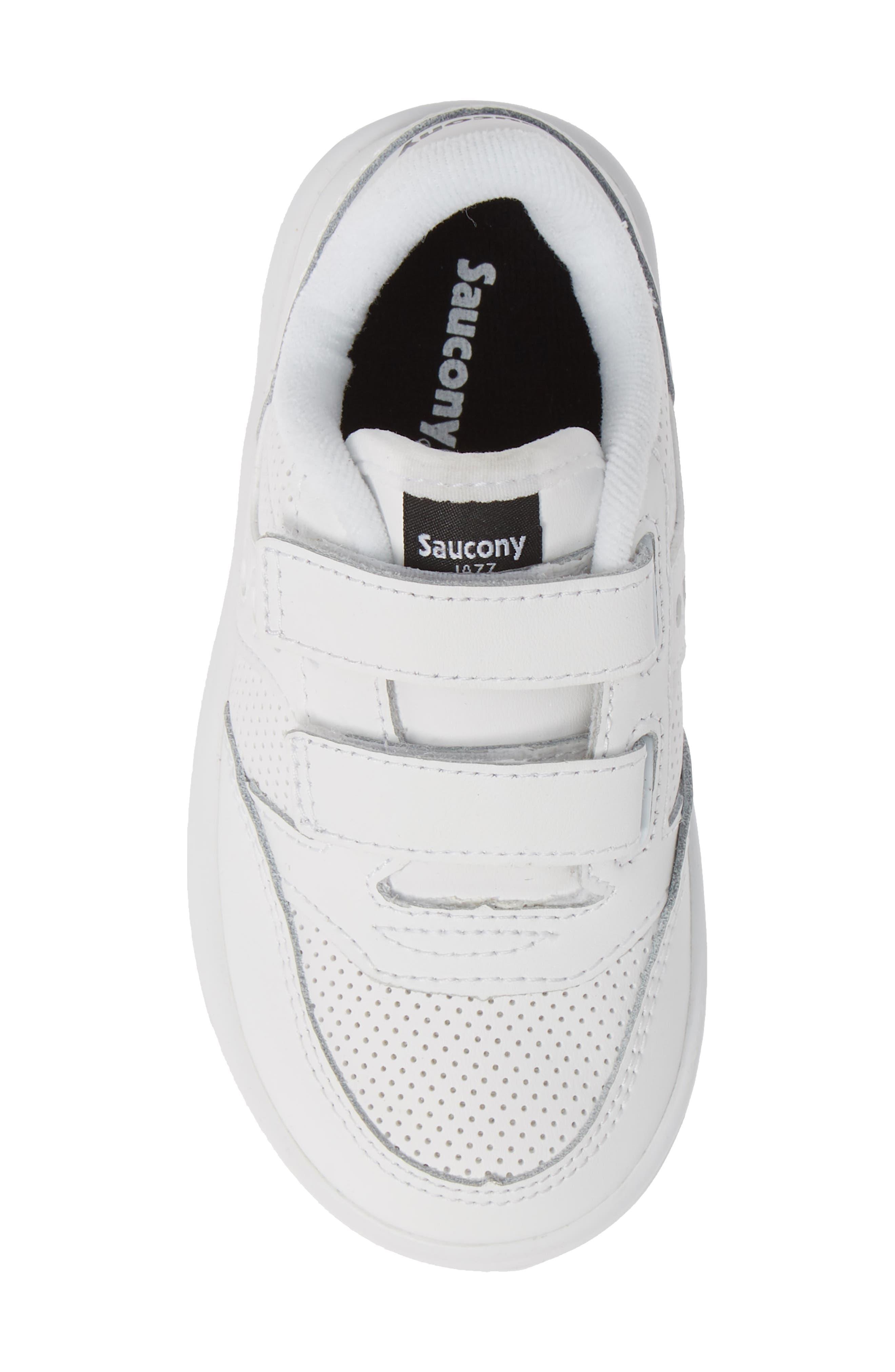 Jazz Court Sneaker,                             Alternate thumbnail 5, color,                             WHITE