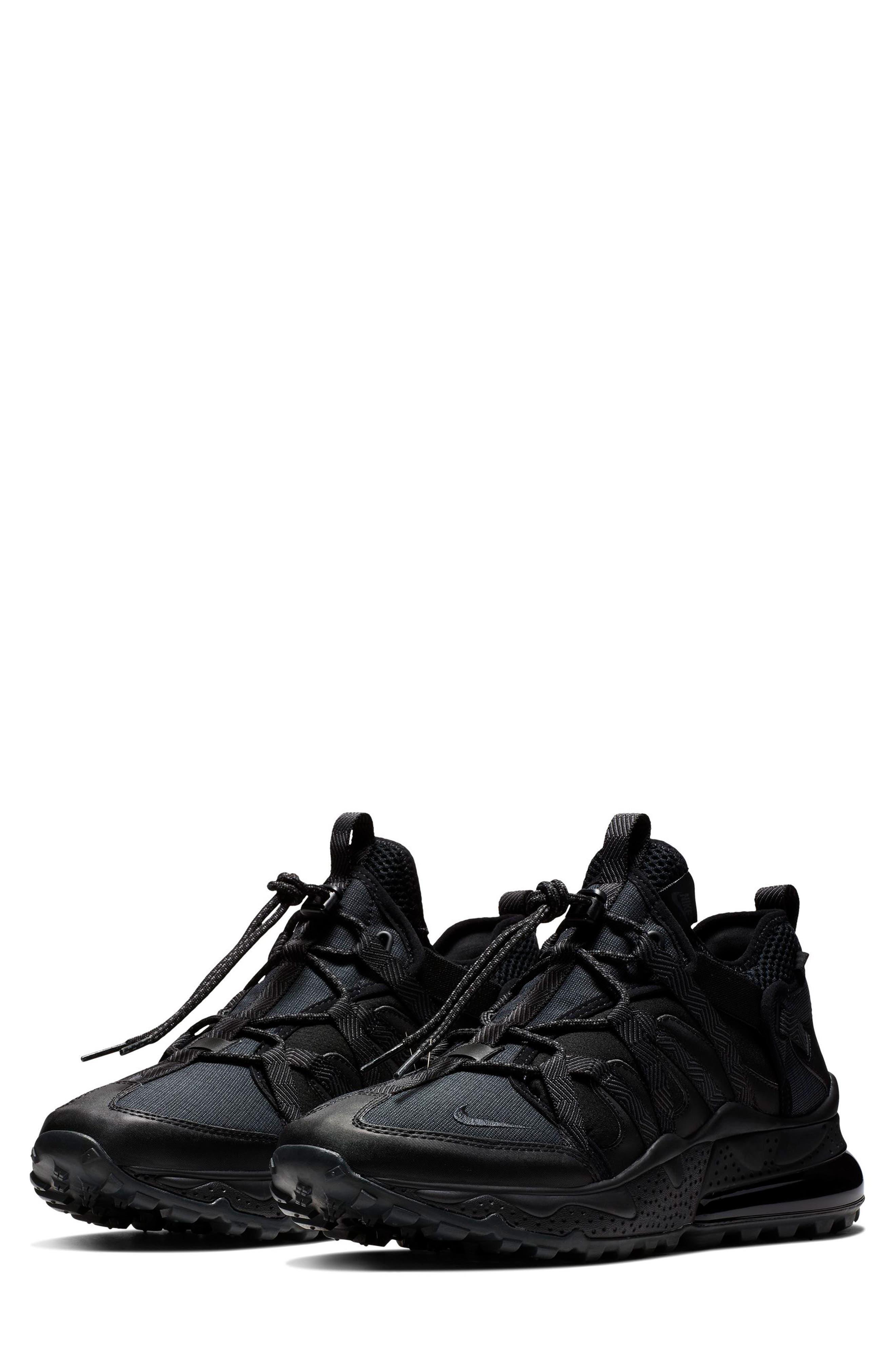 Air Max 270 Bowfin Sneaker,                         Main,                         color, BLACK/ ANTHRACITE/ BLACK