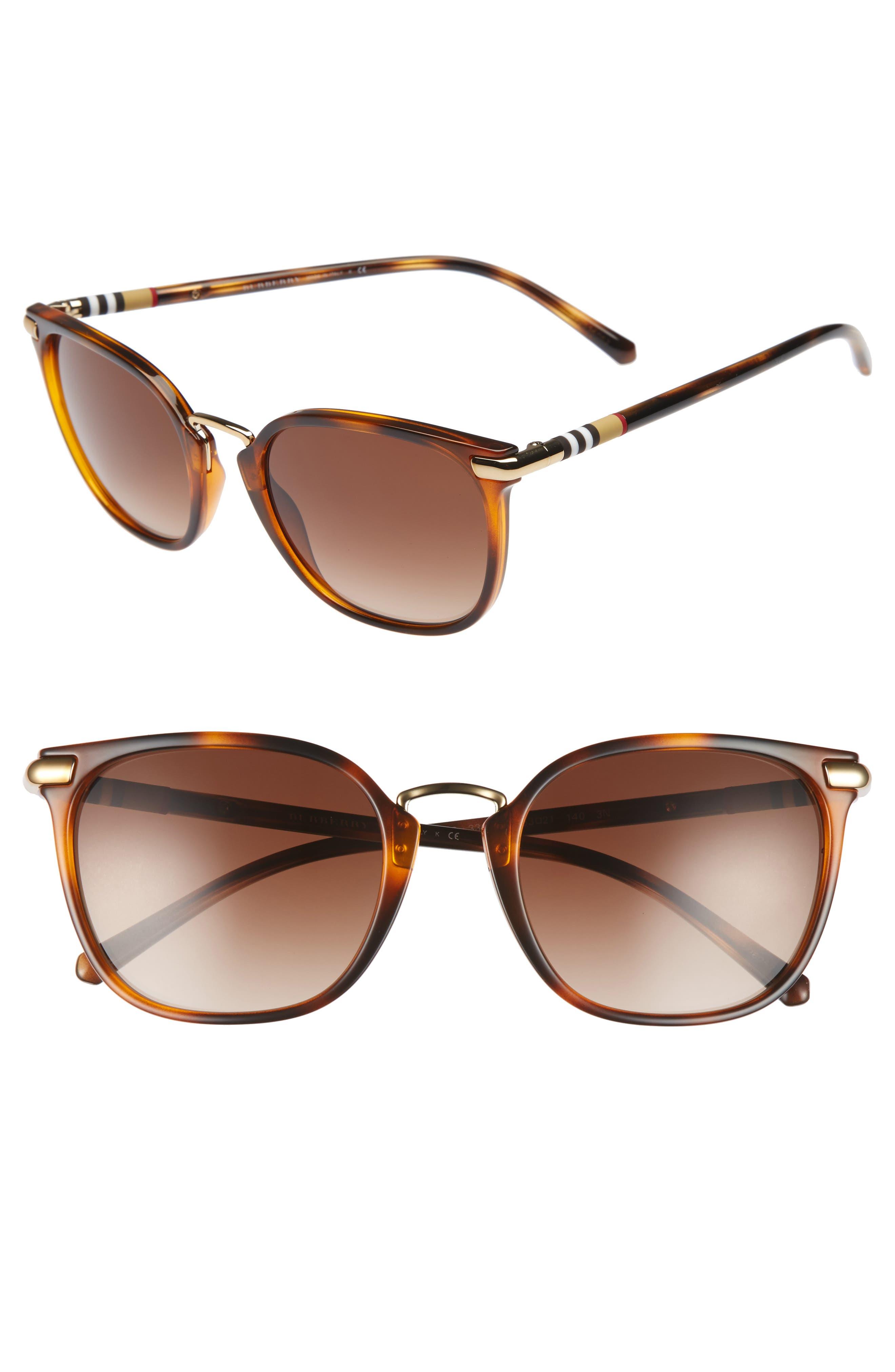 53mm Gradient Square Sunglasses,                             Main thumbnail 2, color,