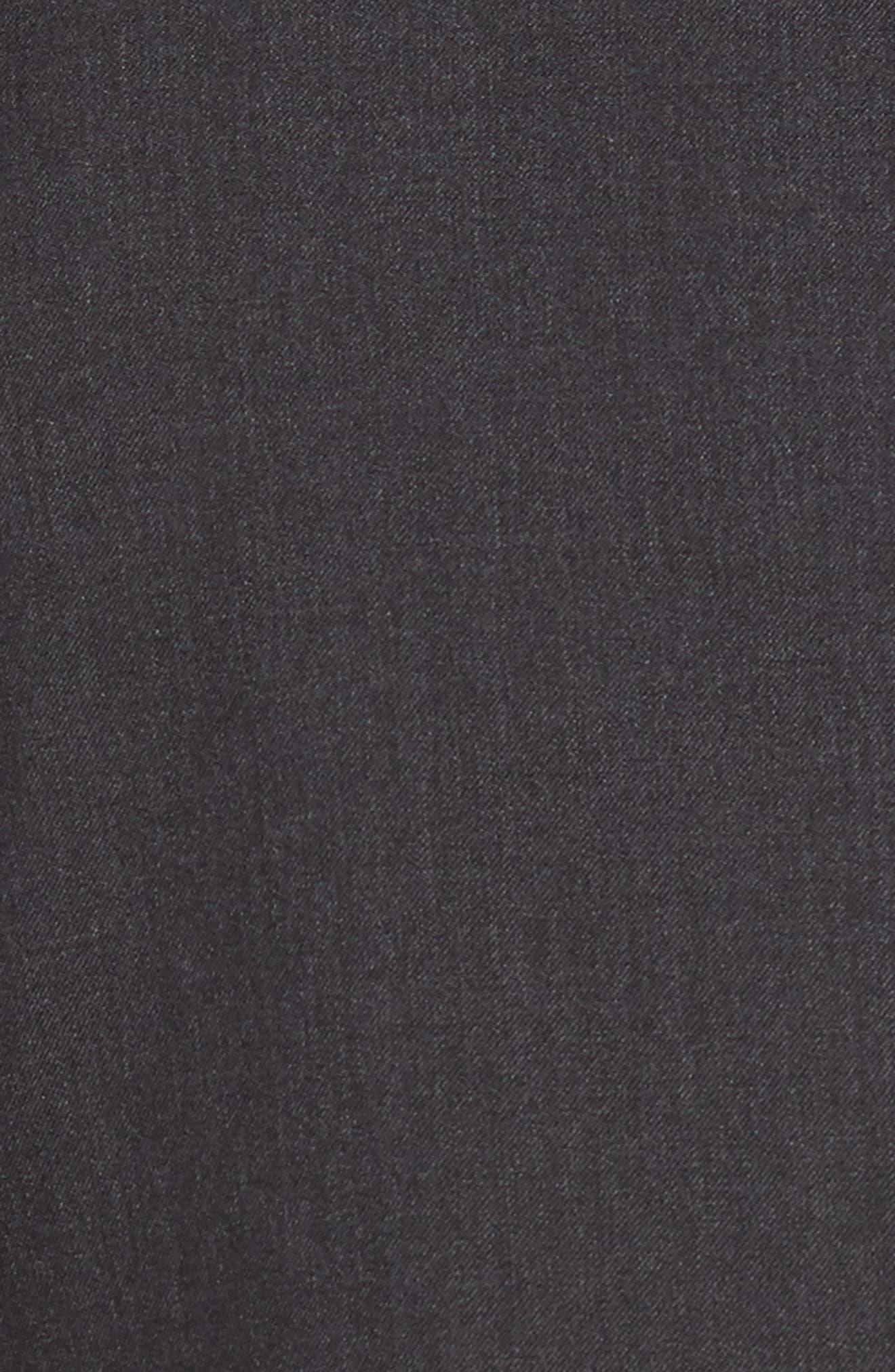 Huge/Genius Trim Fit Solid Wool Suit,                             Alternate thumbnail 7, color,                             DARK GREY