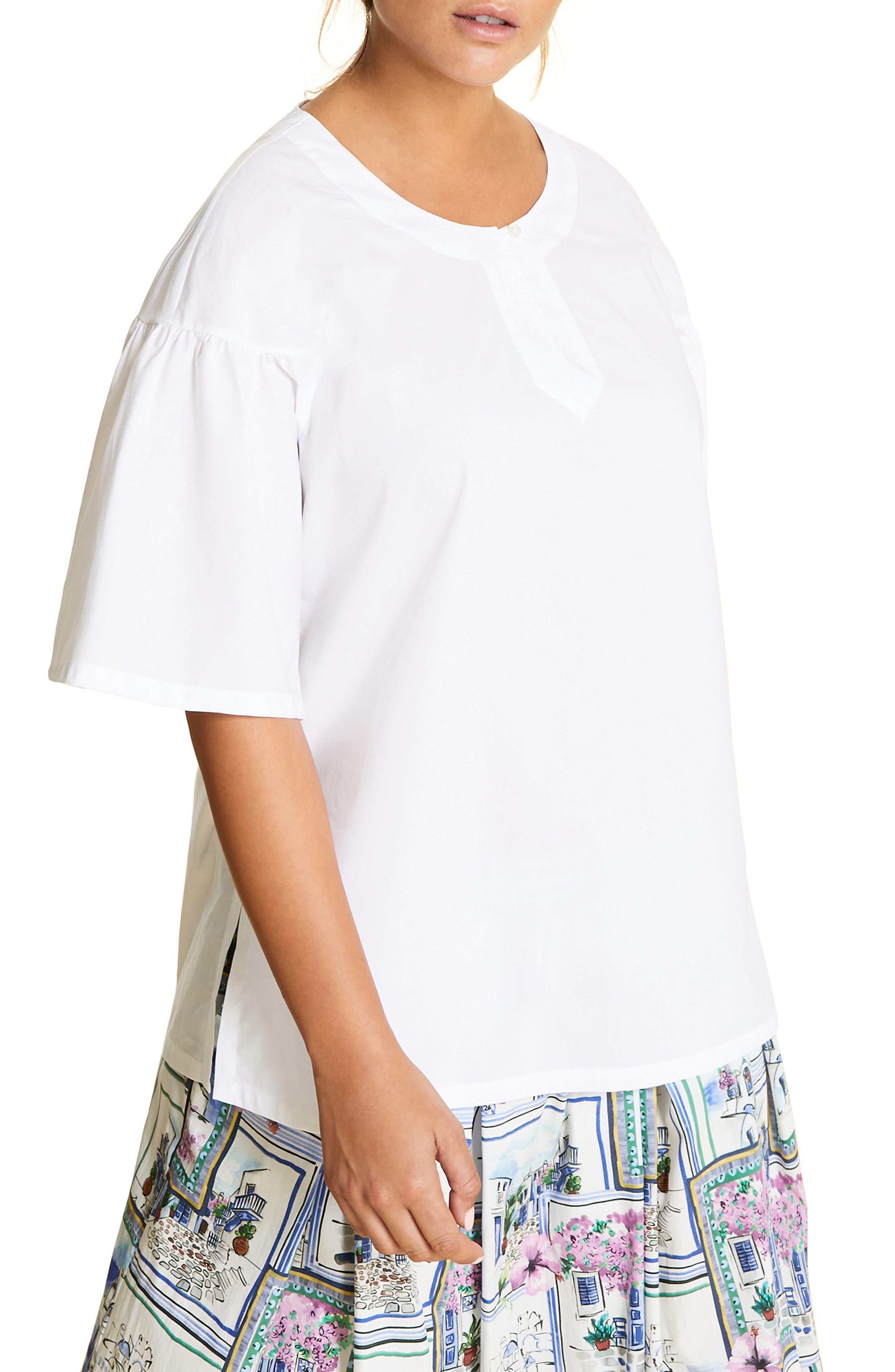 plus size women's marina rinaldi becher cotton shirt