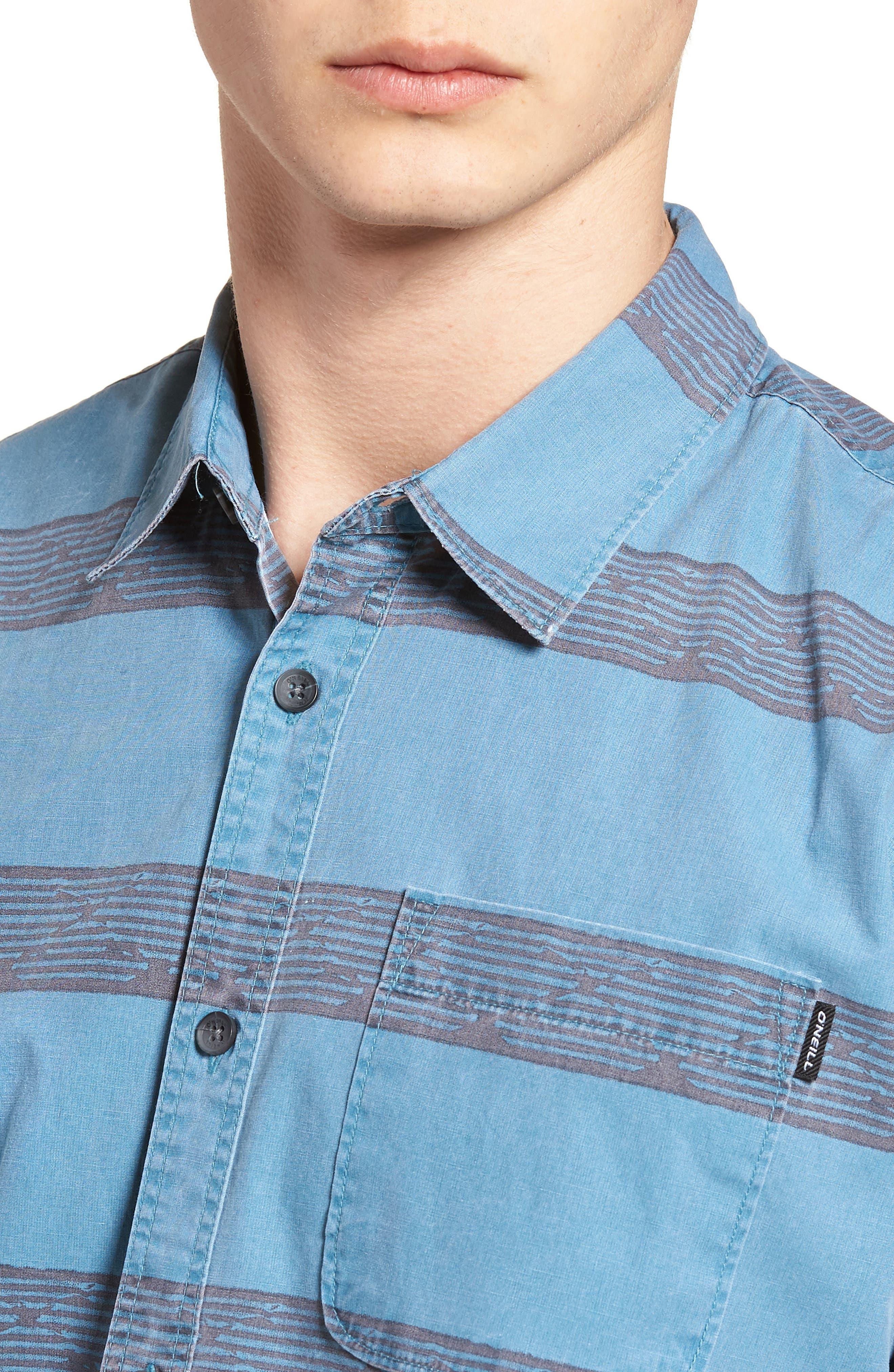 Wagner Woven Shirt,                             Alternate thumbnail 4, color,                             DEEP TEAL