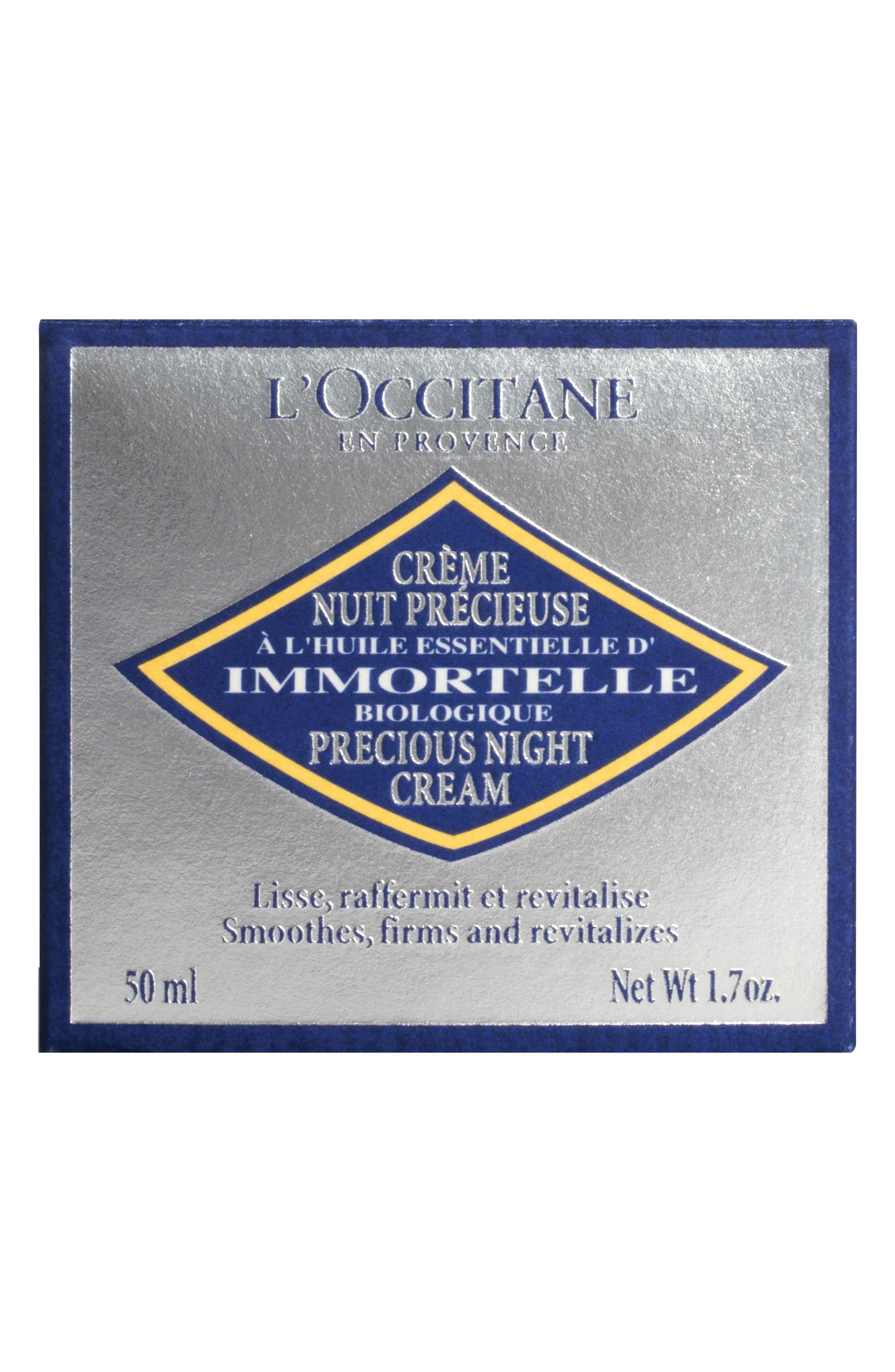 'Immortelle' Precious Night Cream,                             Alternate thumbnail 4, color,                             NO COLOR