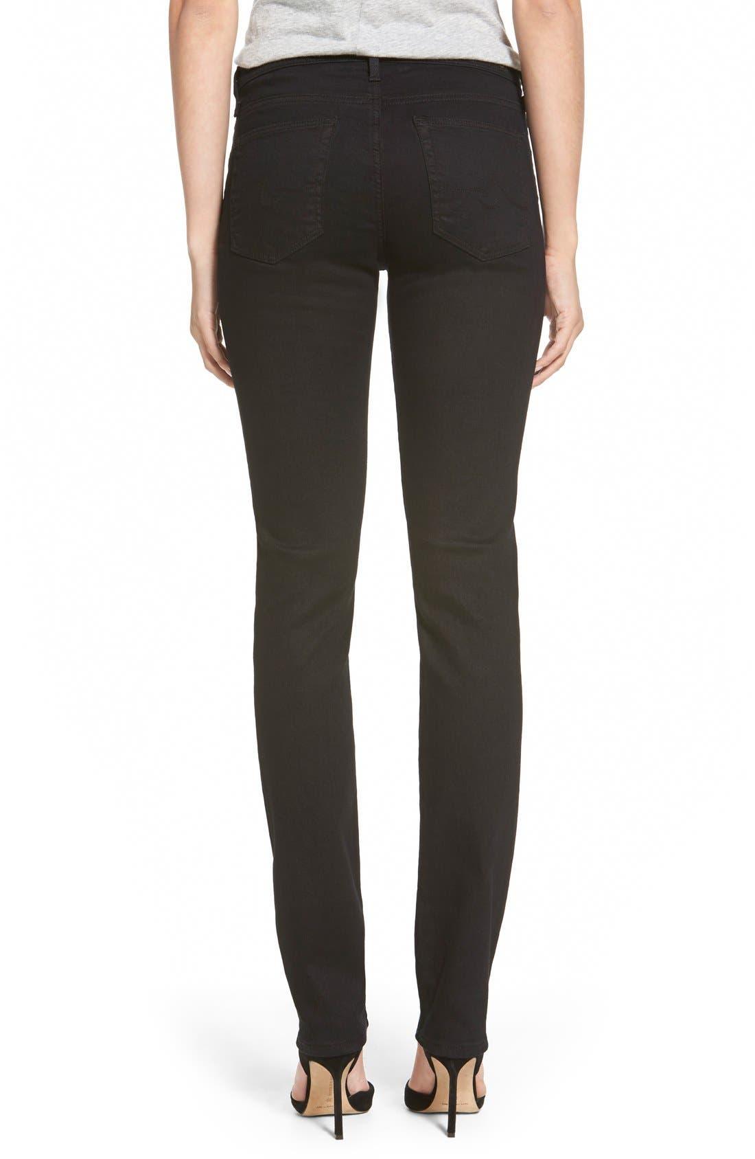 Harper Slim Straight Leg Jeans,                             Alternate thumbnail 3, color,                             OVERDYED BLACK