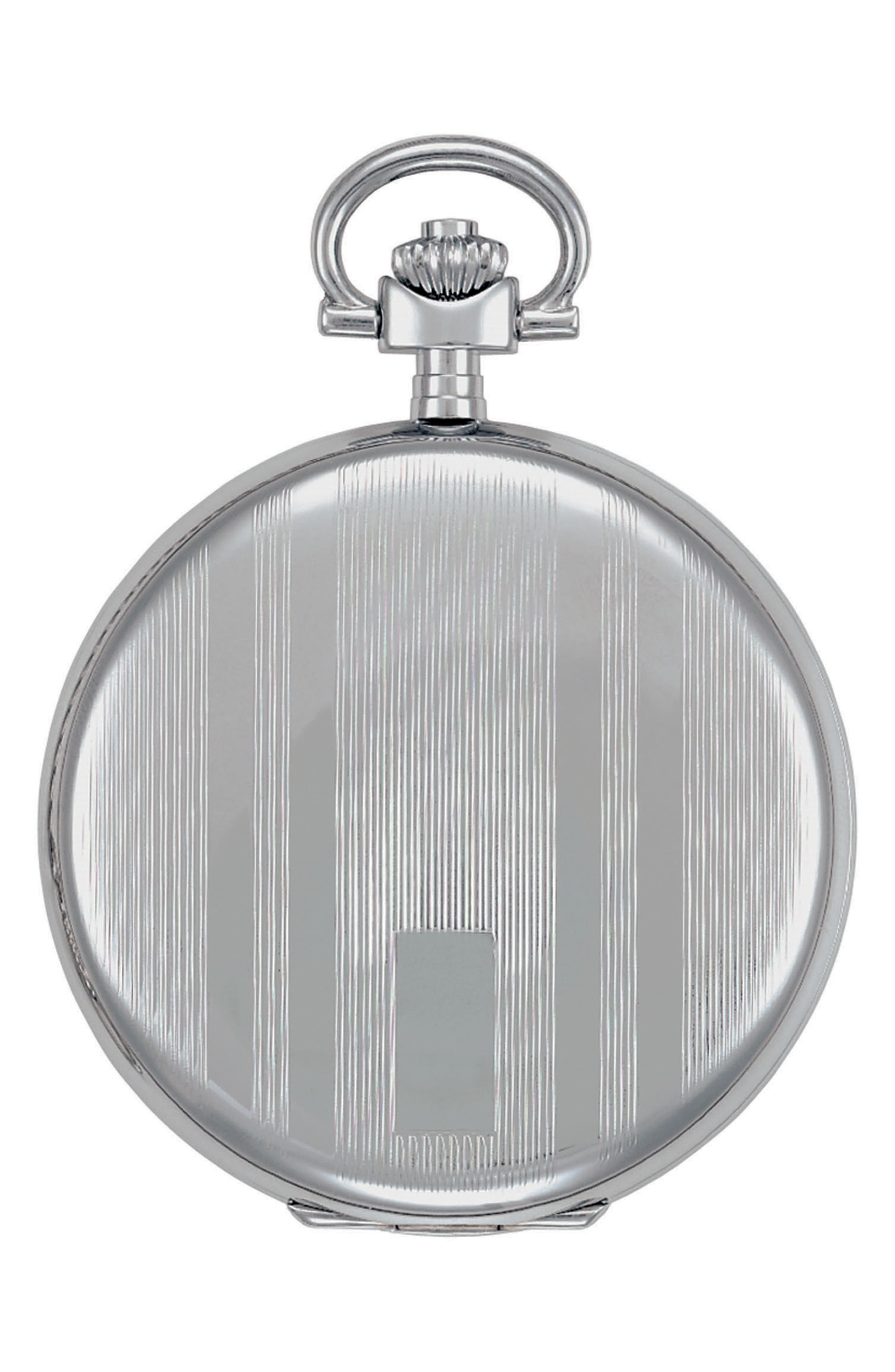 Savonnette Pocket Watch, 48mm,                             Alternate thumbnail 2, color,                             SILVER/ WHITE