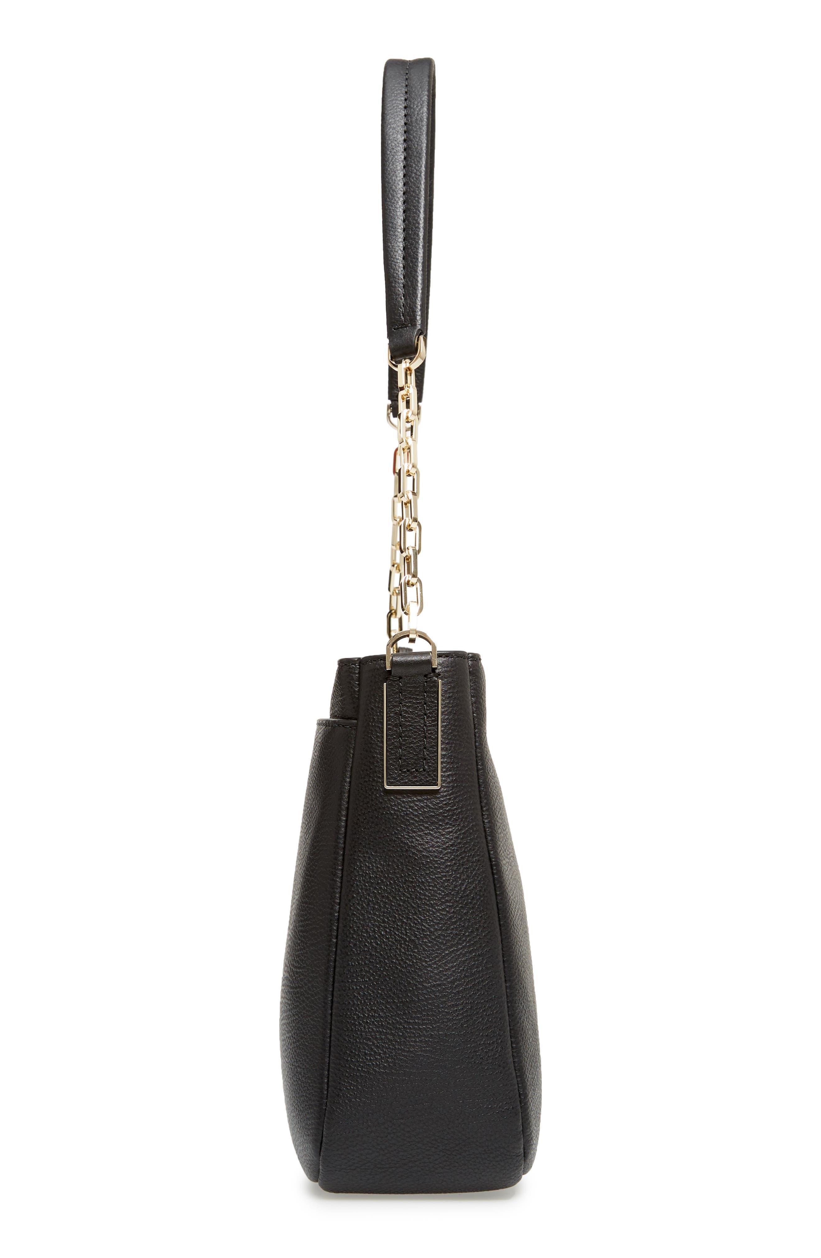 kingston drive - shannon leather tote,                             Alternate thumbnail 5, color,                             001