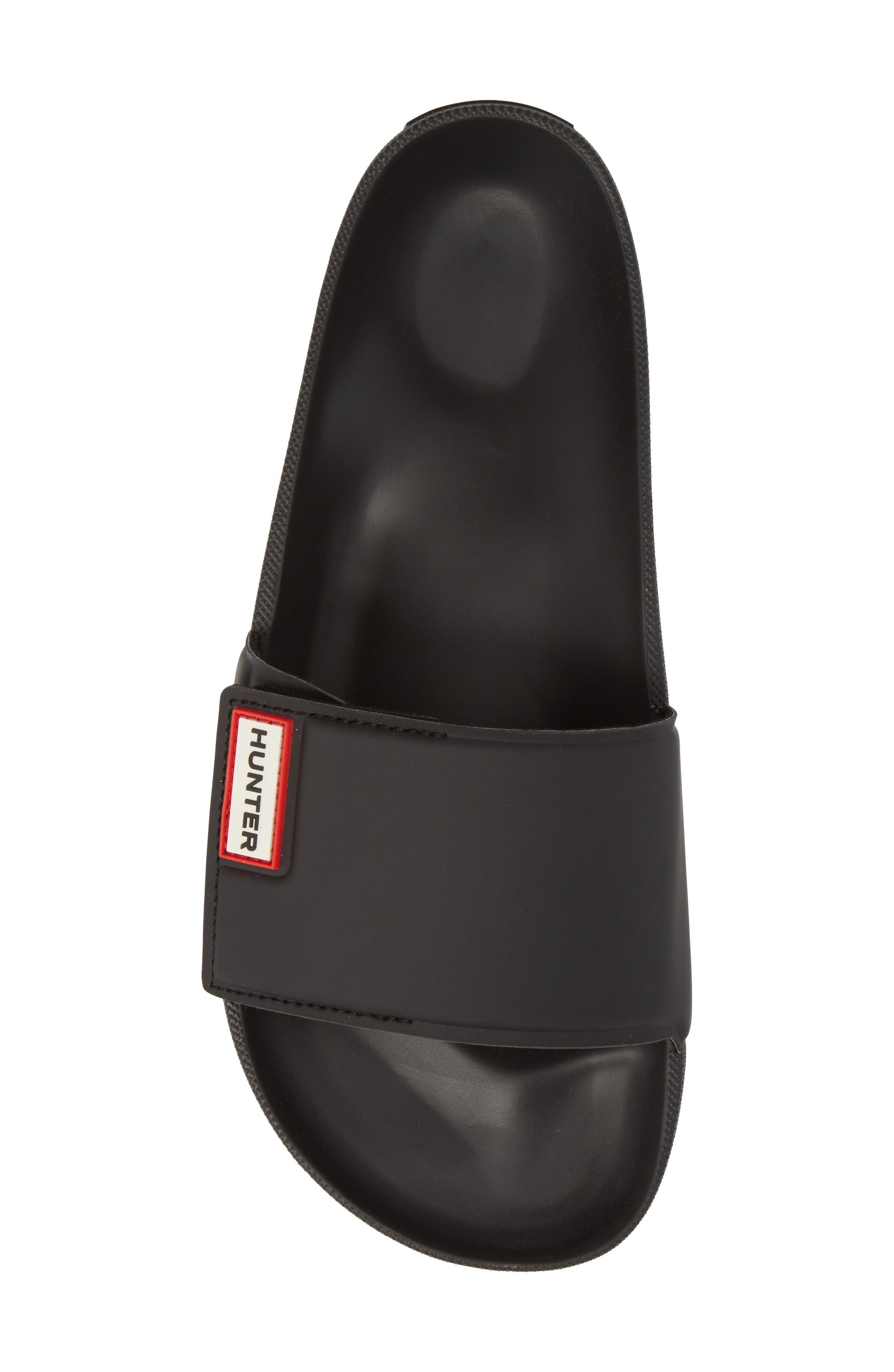 Original Adjustable Slide Sandal,                             Alternate thumbnail 5, color,                             BLACK