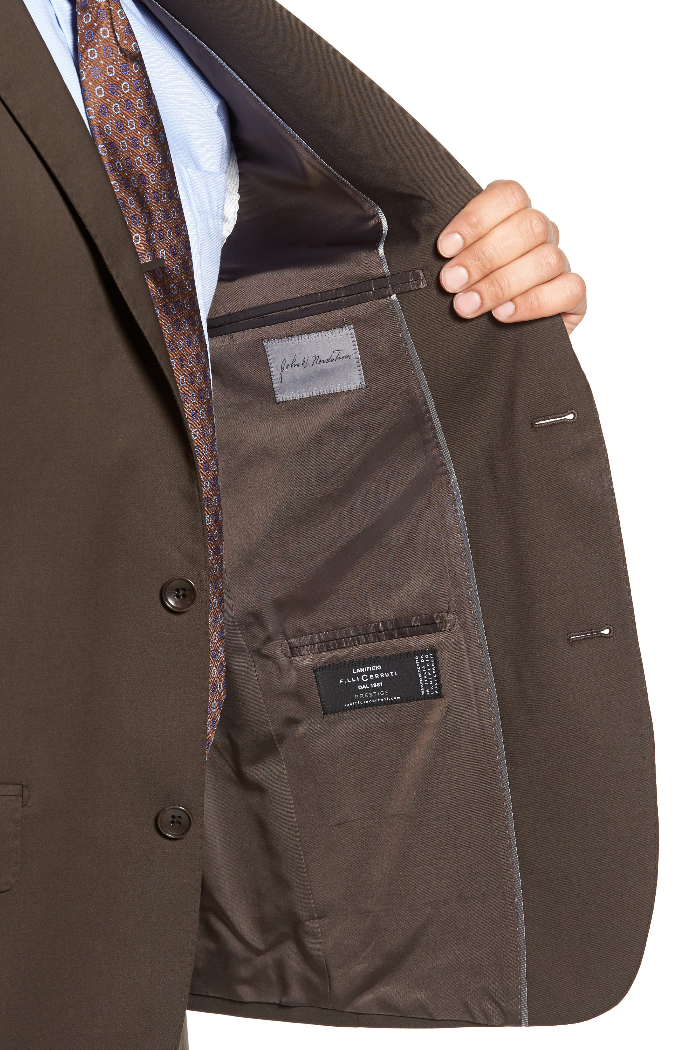 Classic Fit Solid Wool Suit,                             Alternate thumbnail 21, color,