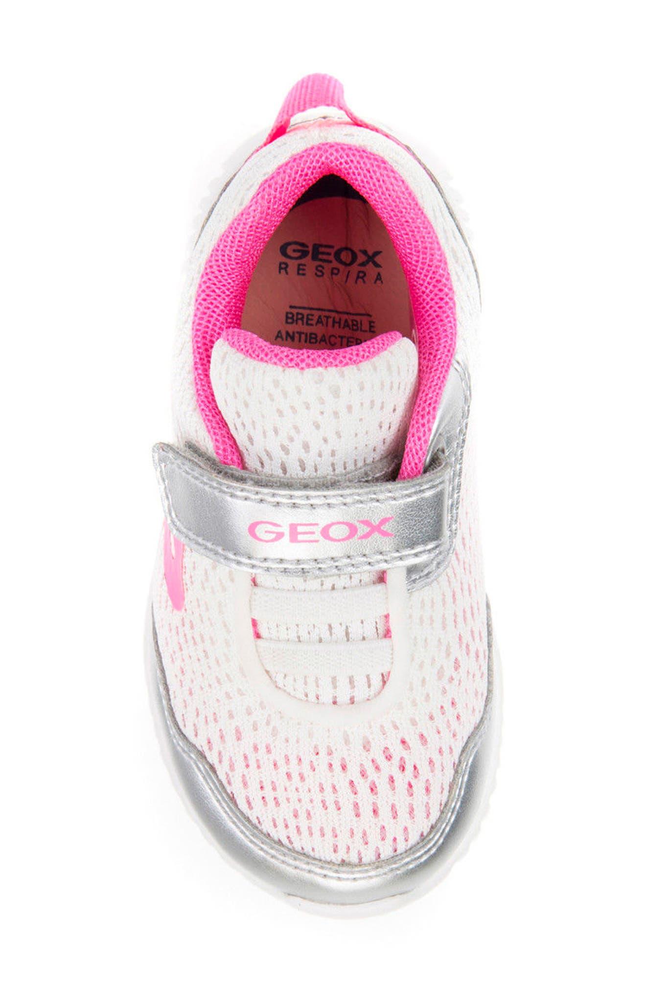 Waviness Sneaker,                             Alternate thumbnail 4, color,                             WHITE/ SILVER