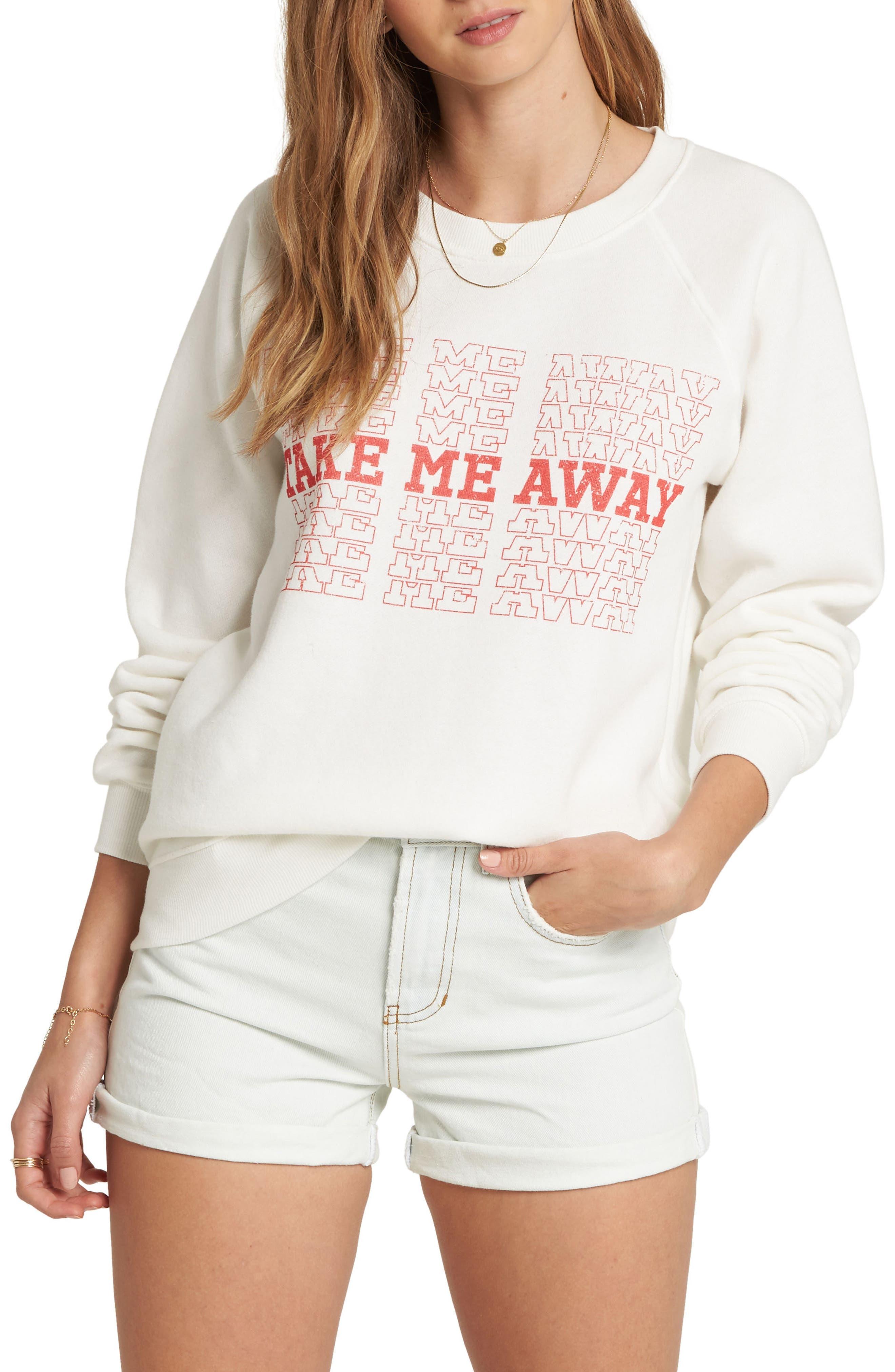 Take Me Away Graphic Crop Sweatshirt,                         Main,                         color, 190