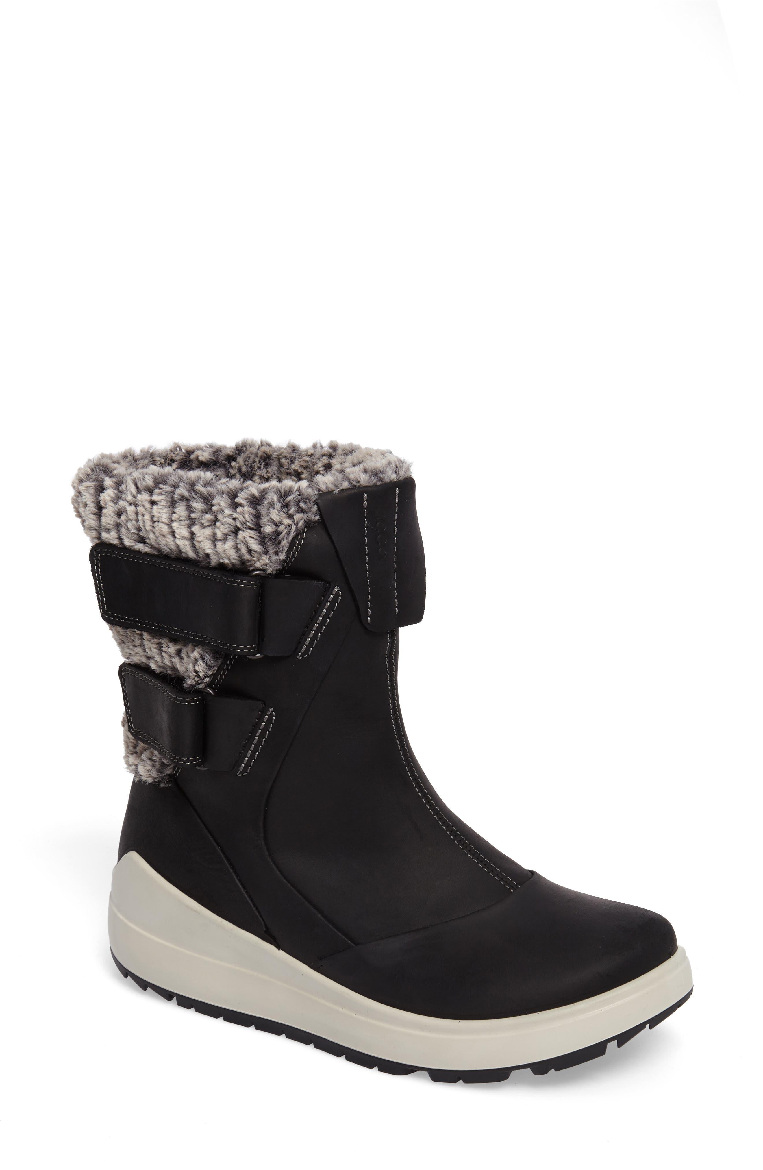 Noyce Water-Resistant Fleece Boot,                             Main thumbnail 1, color,                             001