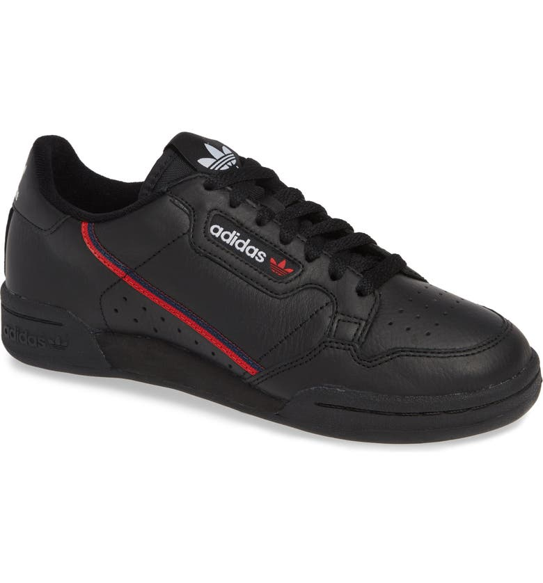 best service a0711 8067b ADIDAS Continental 80 Sneaker, Main, color, BLACK SCARLET NAVY