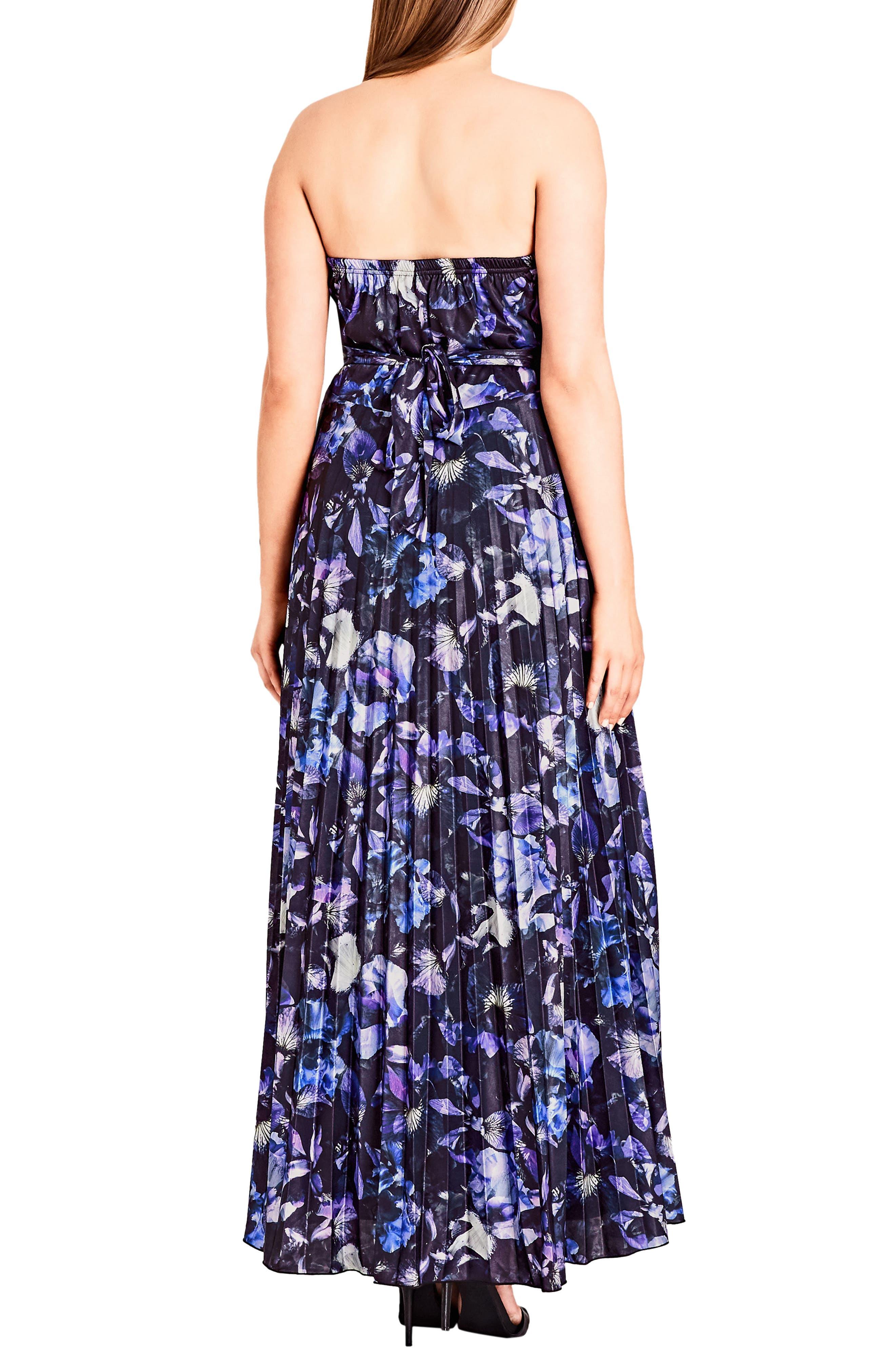 Lavender Floral Maxi Dress,                             Alternate thumbnail 2, color,                             LAVENDER FLORAL