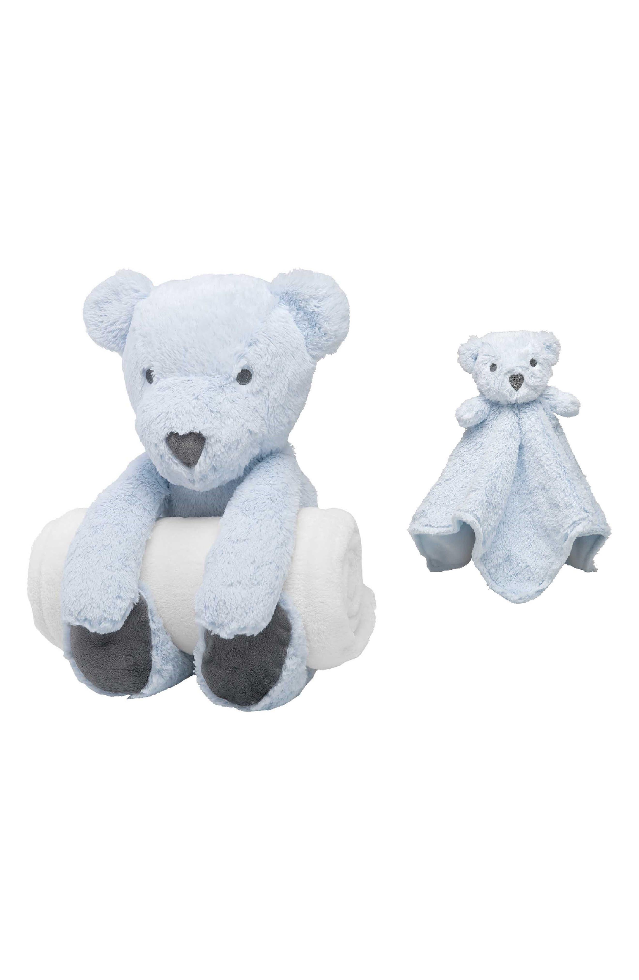 Elegant Baby Bear Bedtime Huggie Stuffed Animal Blanket Security