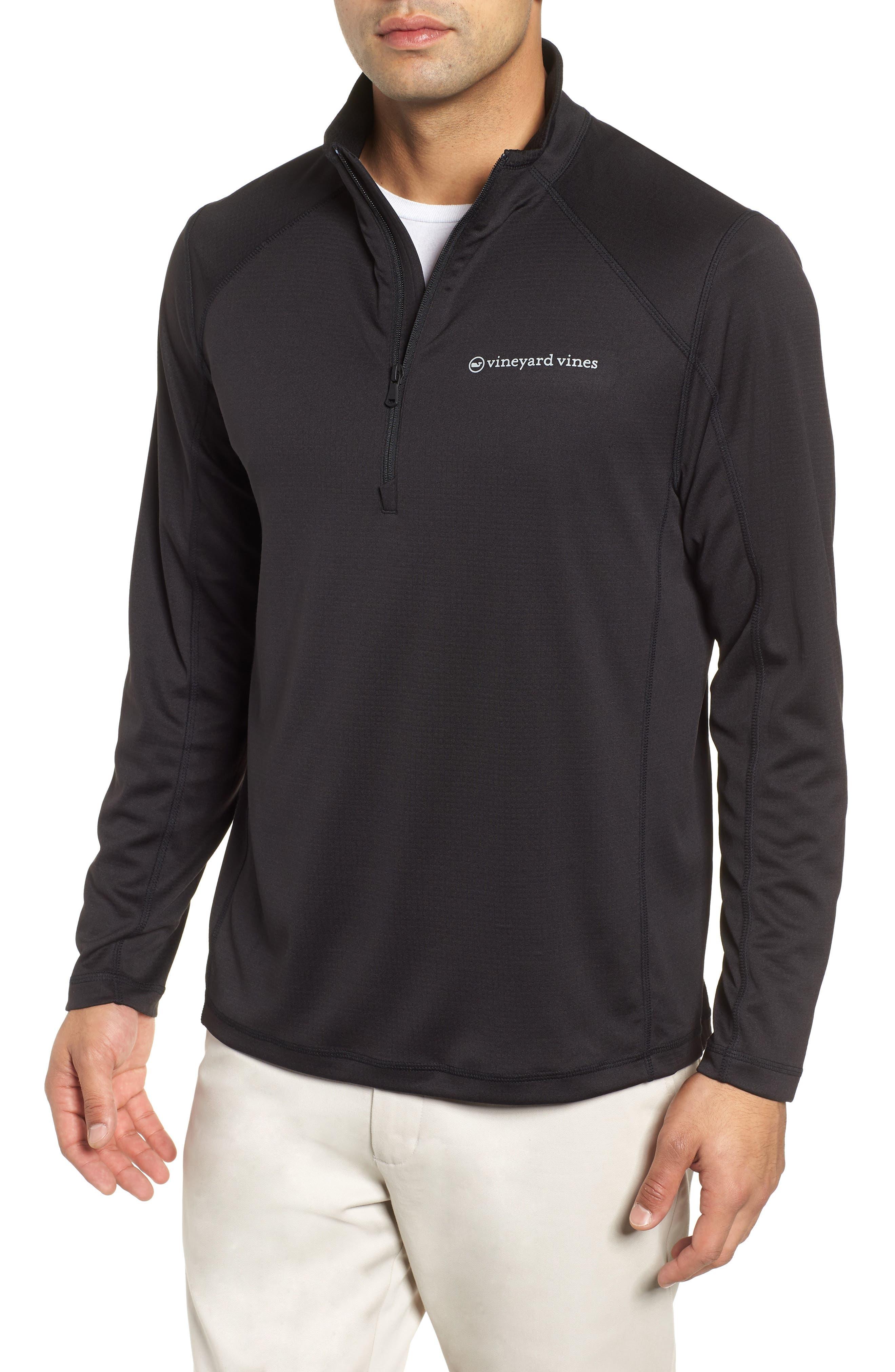 The New Nine Mile Half Zip Pullover,                         Main,                         color, JET BLACK