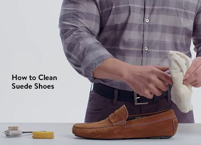 How to clean suede shoes.