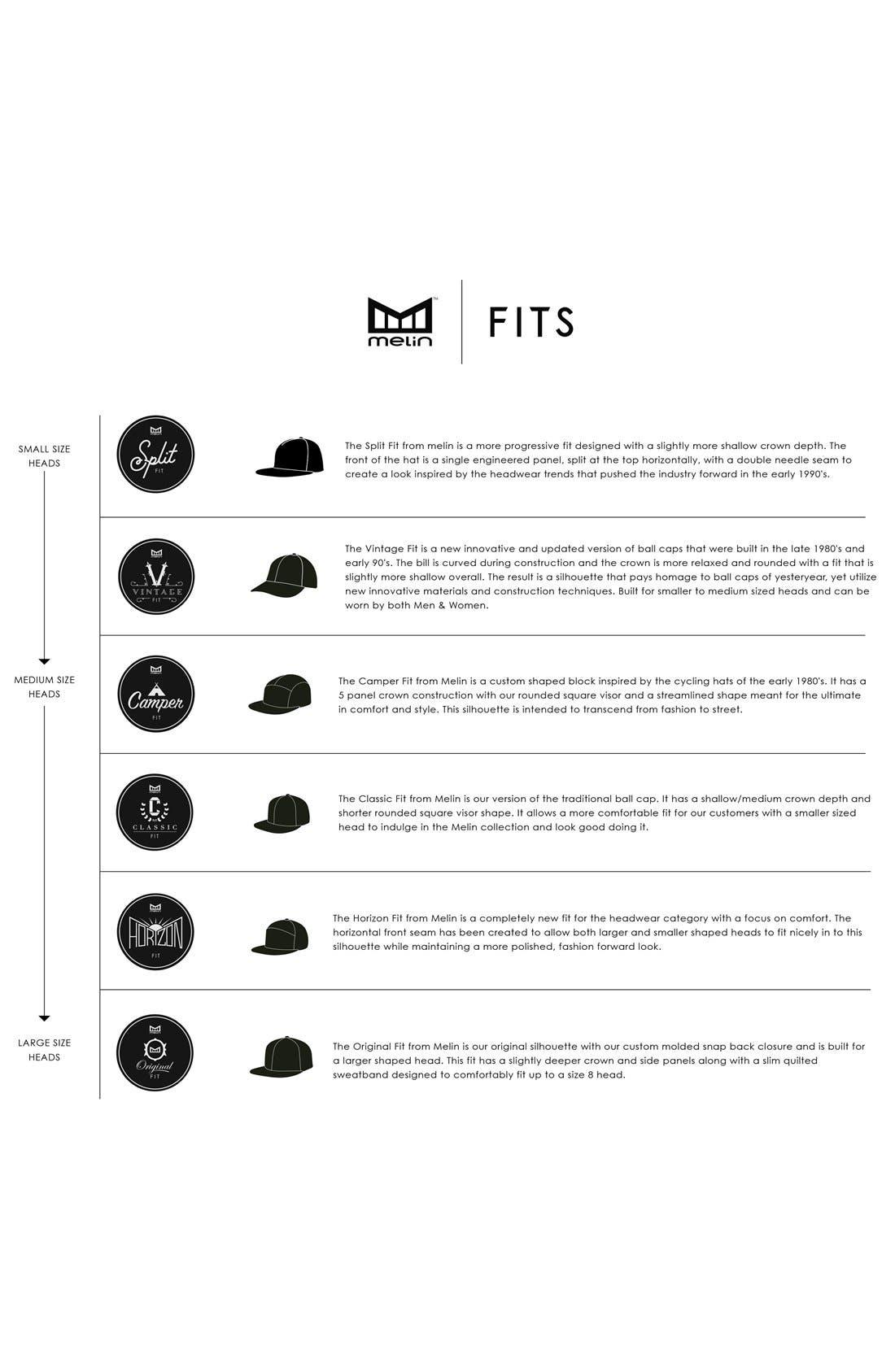 'The Nomad' Split Fit Snapback Baseball Cap,                             Alternate thumbnail 6, color,                             TAUPE