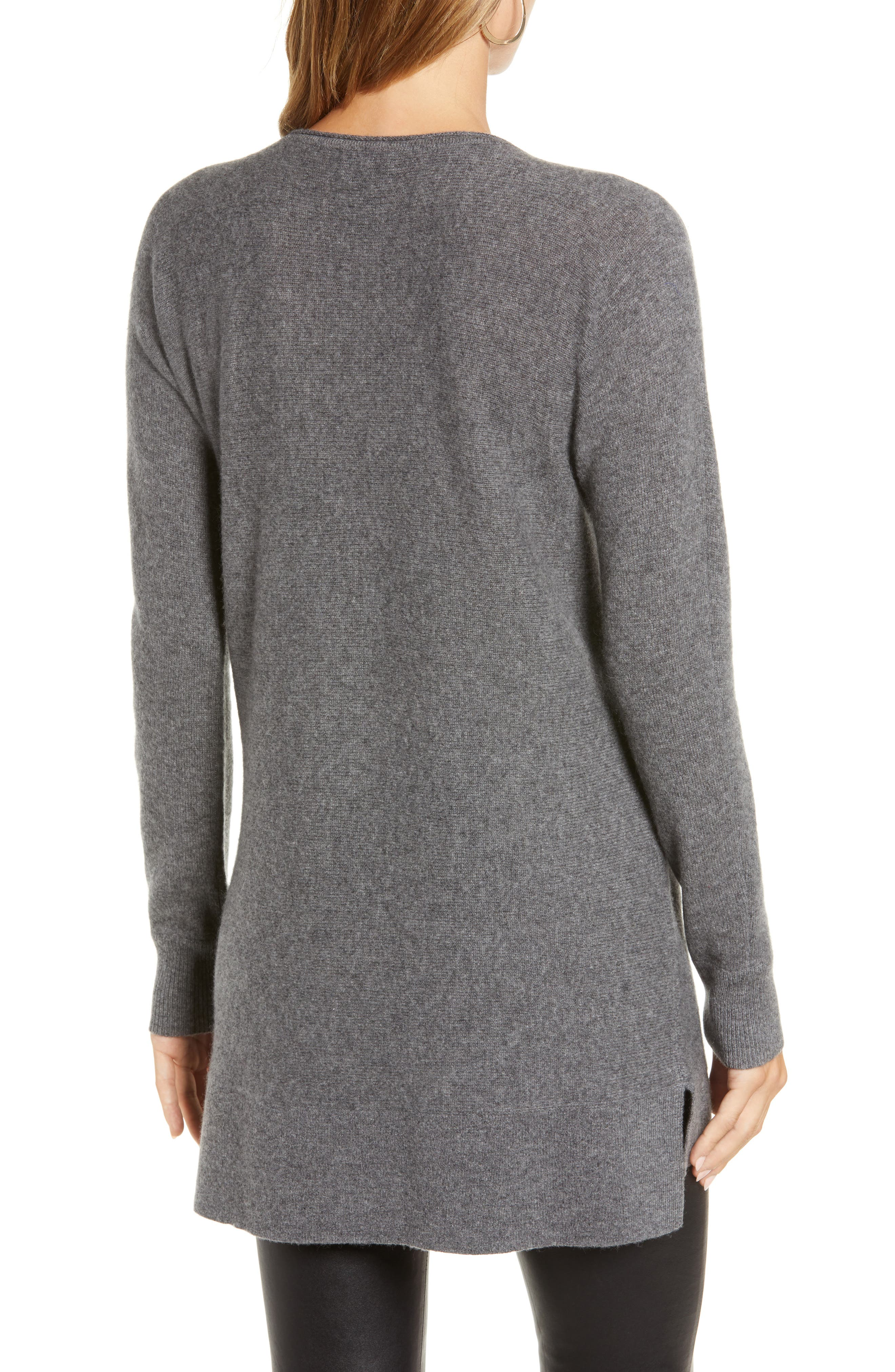 High/Low Wool & Cashmere Tunic Sweater,                             Alternate thumbnail 21, color,