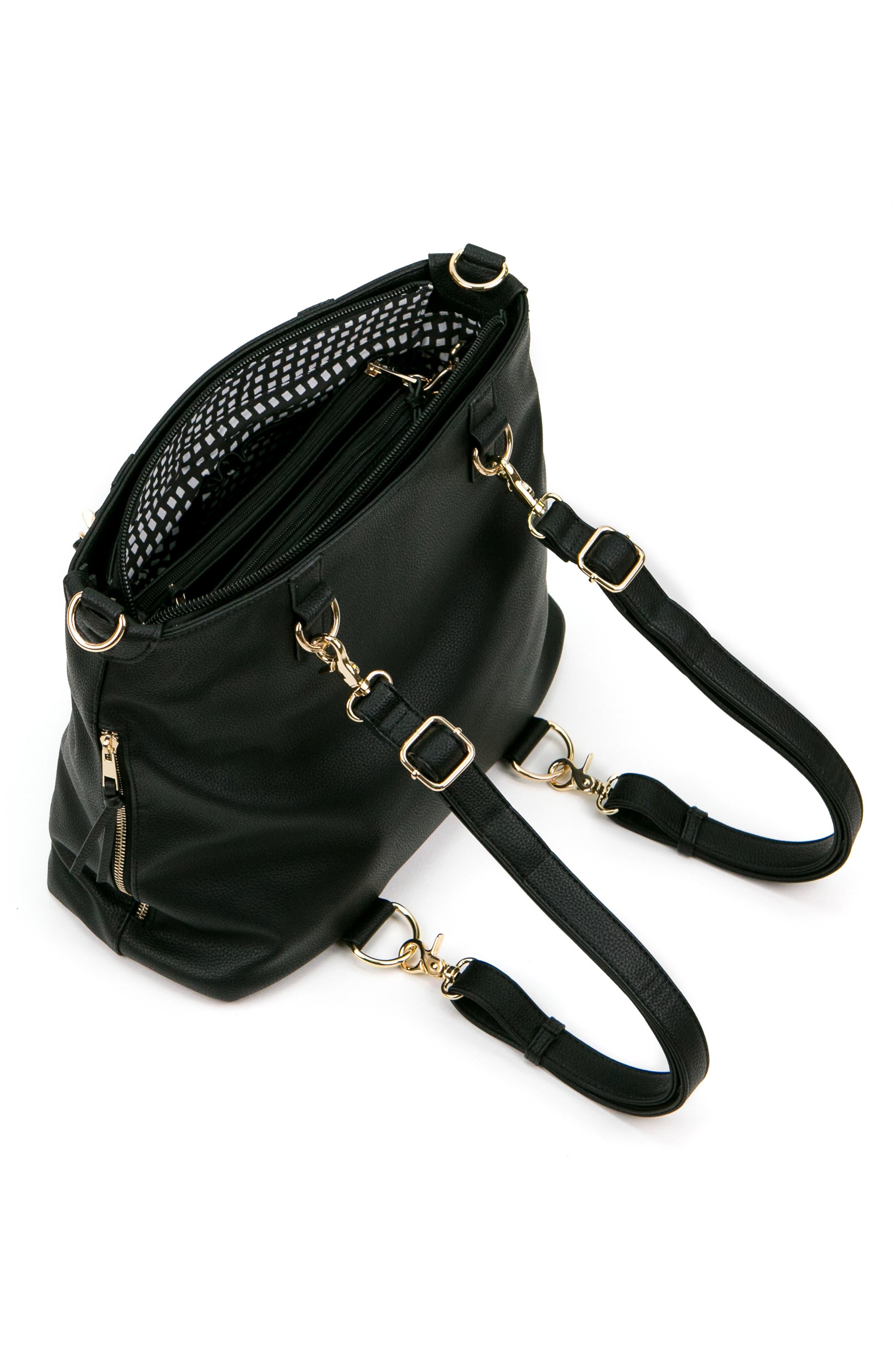 Boss Convertible Diaper Backpack,                             Alternate thumbnail 7, color,                             BLACK