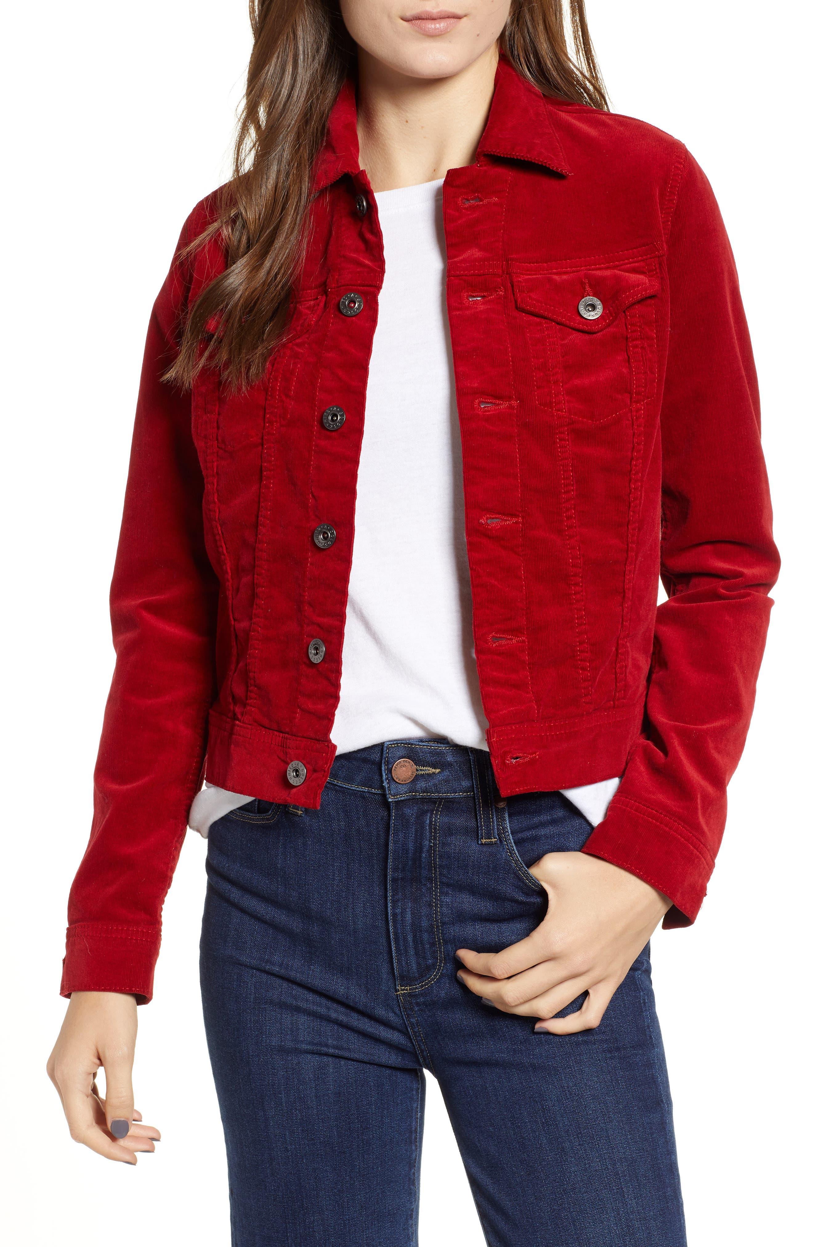 Robyn Corduroy Jacket,                             Main thumbnail 1, color,                             RED AMARYLLIS