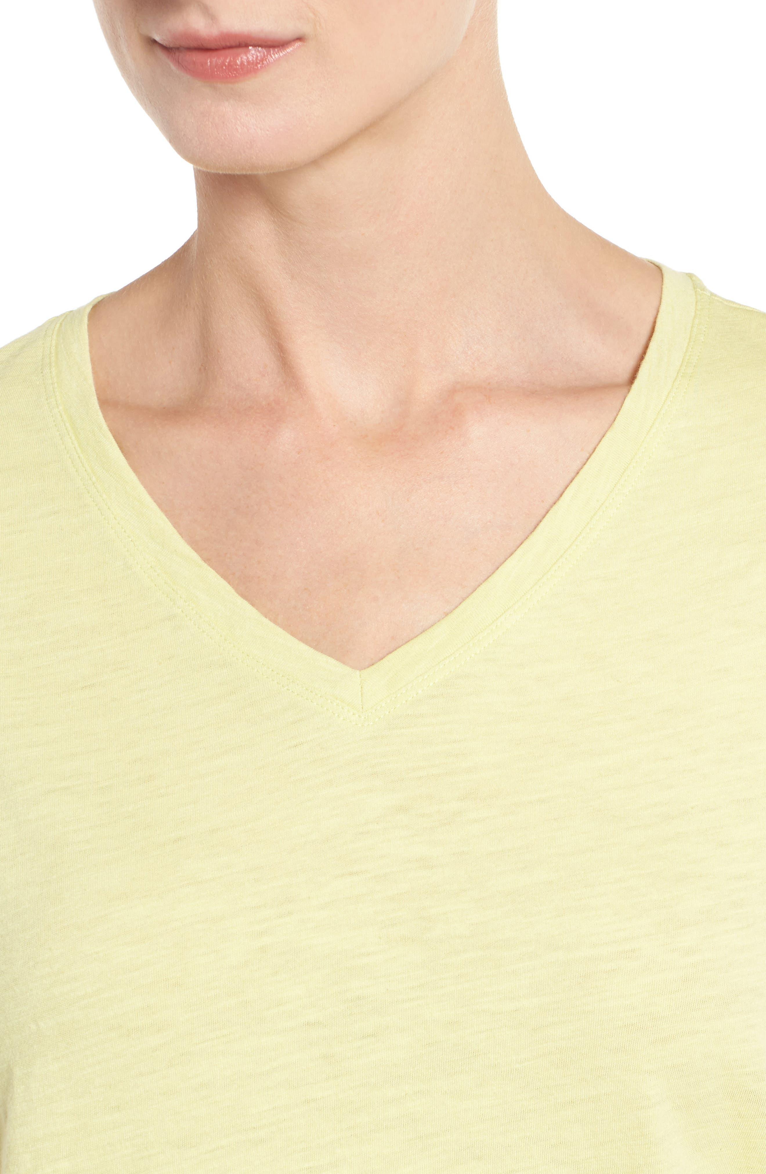 Organic Cotton V-Neck Tee,                             Alternate thumbnail 65, color,