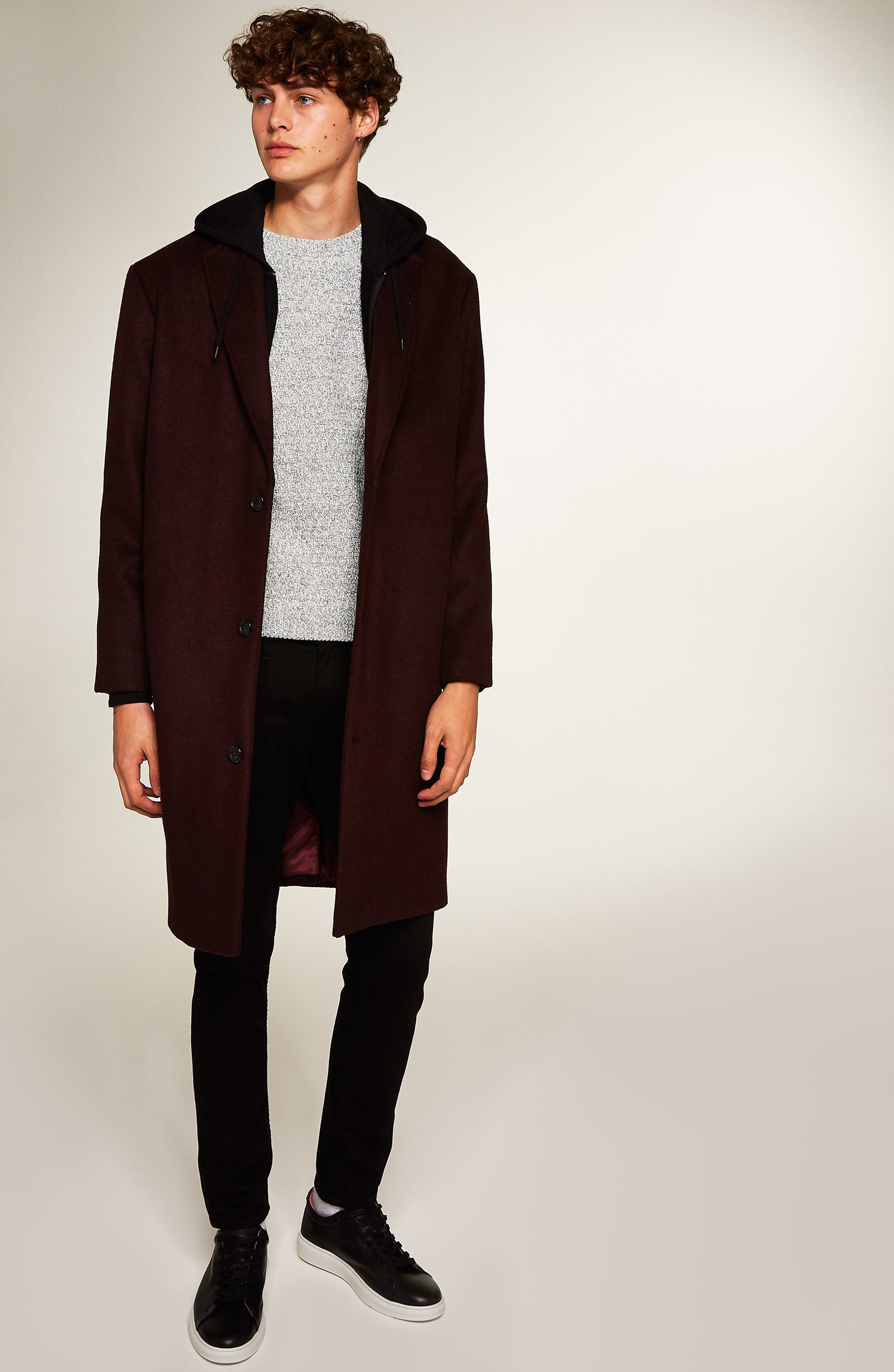 Textured Crewneck Sweater,                             Alternate thumbnail 5, color,                             020