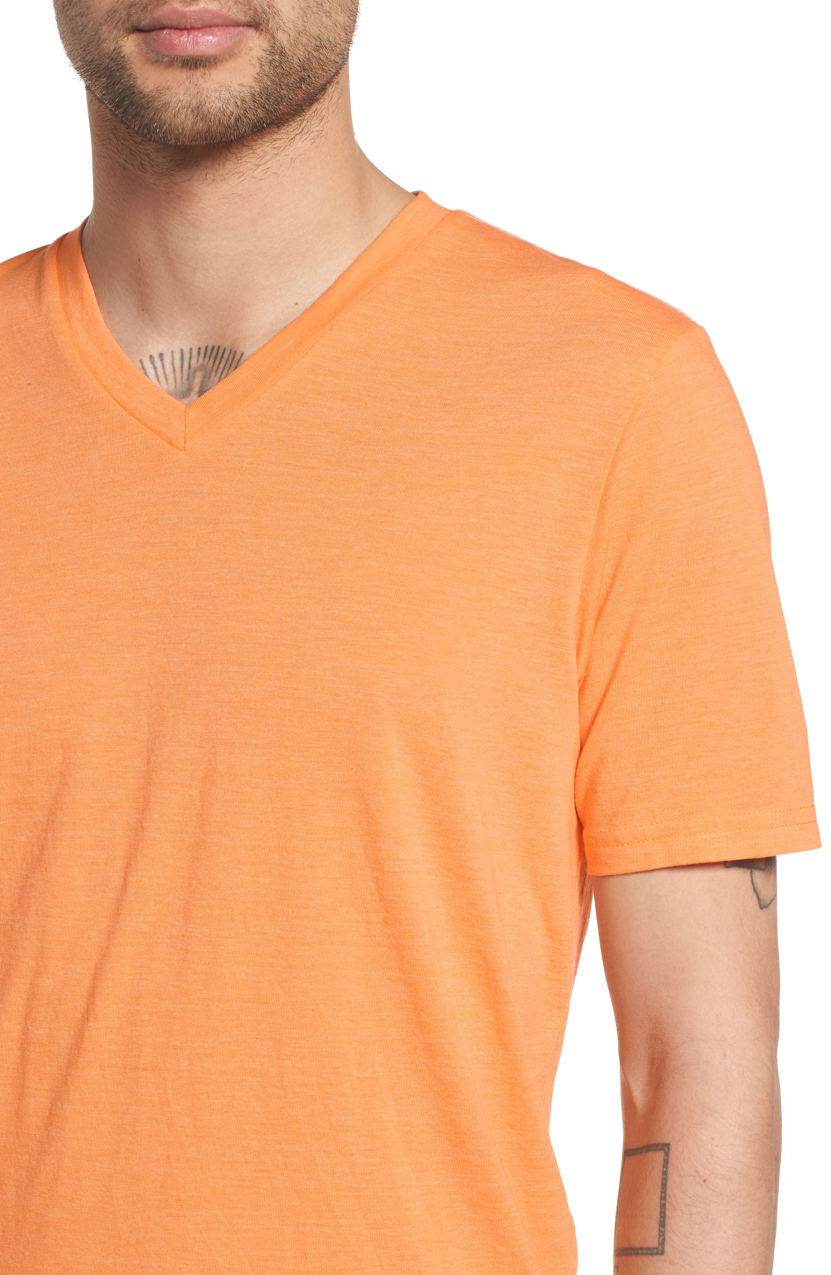 Scallop Triblend V-Neck T-Shirt,                             Alternate thumbnail 84, color,