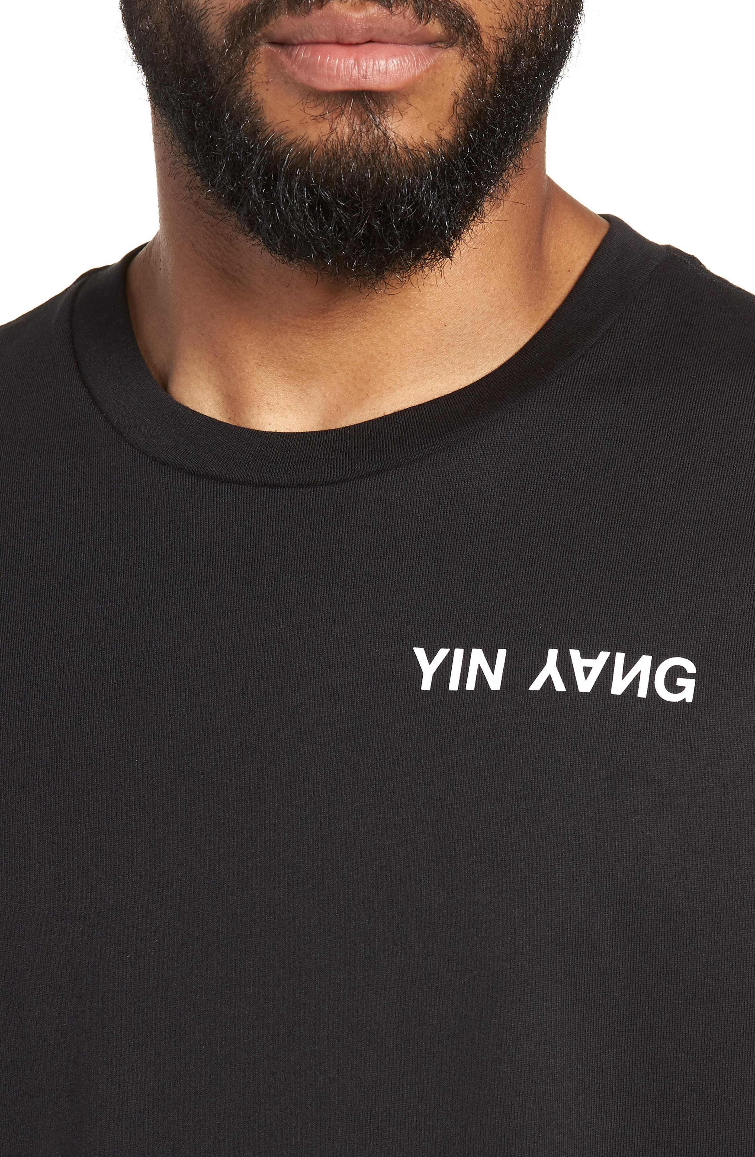 Yin Yang Graphic T-Shirt,                             Alternate thumbnail 4, color,                             001