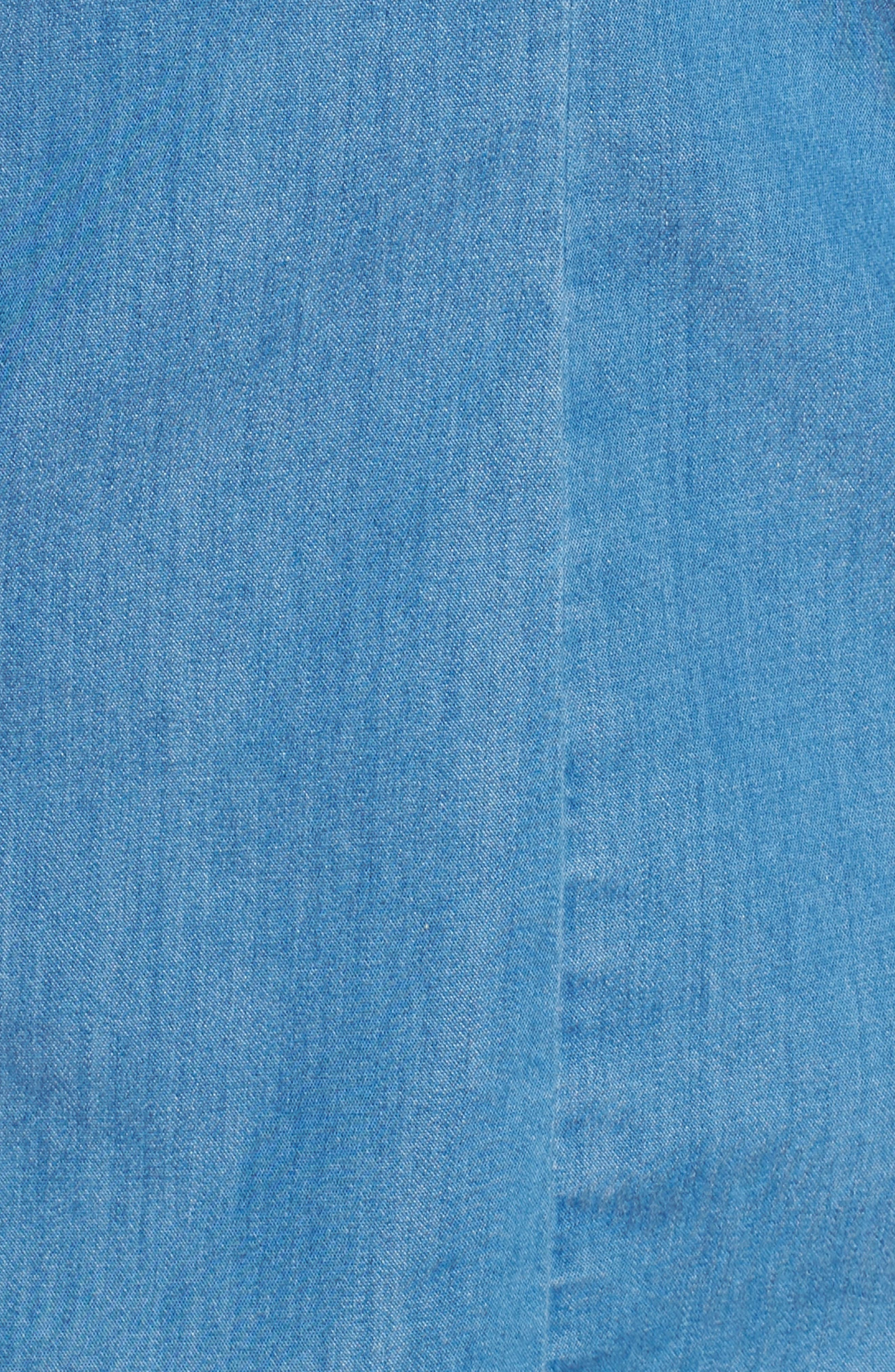 Fitted Chambray Shirt,                             Alternate thumbnail 11, color,                             ROBIN INDIGO