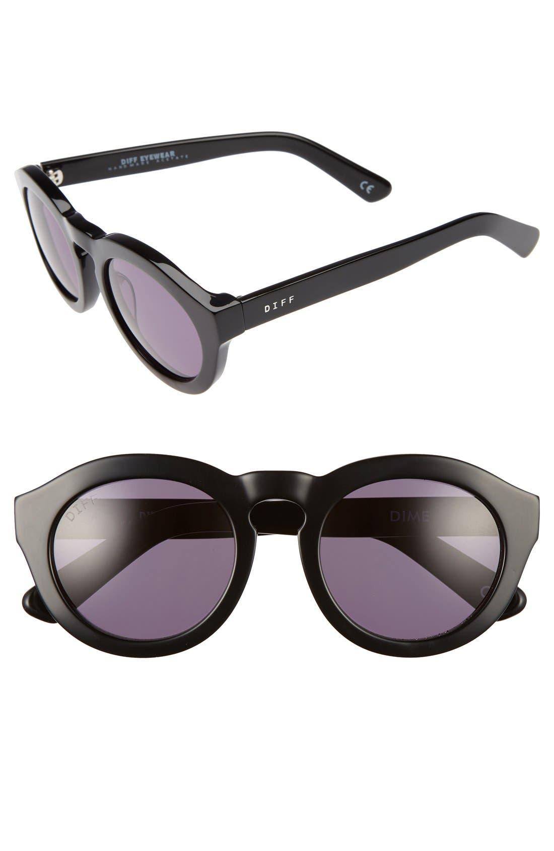 Dime 48mm Retro Sunglasses,                         Main,                         color,