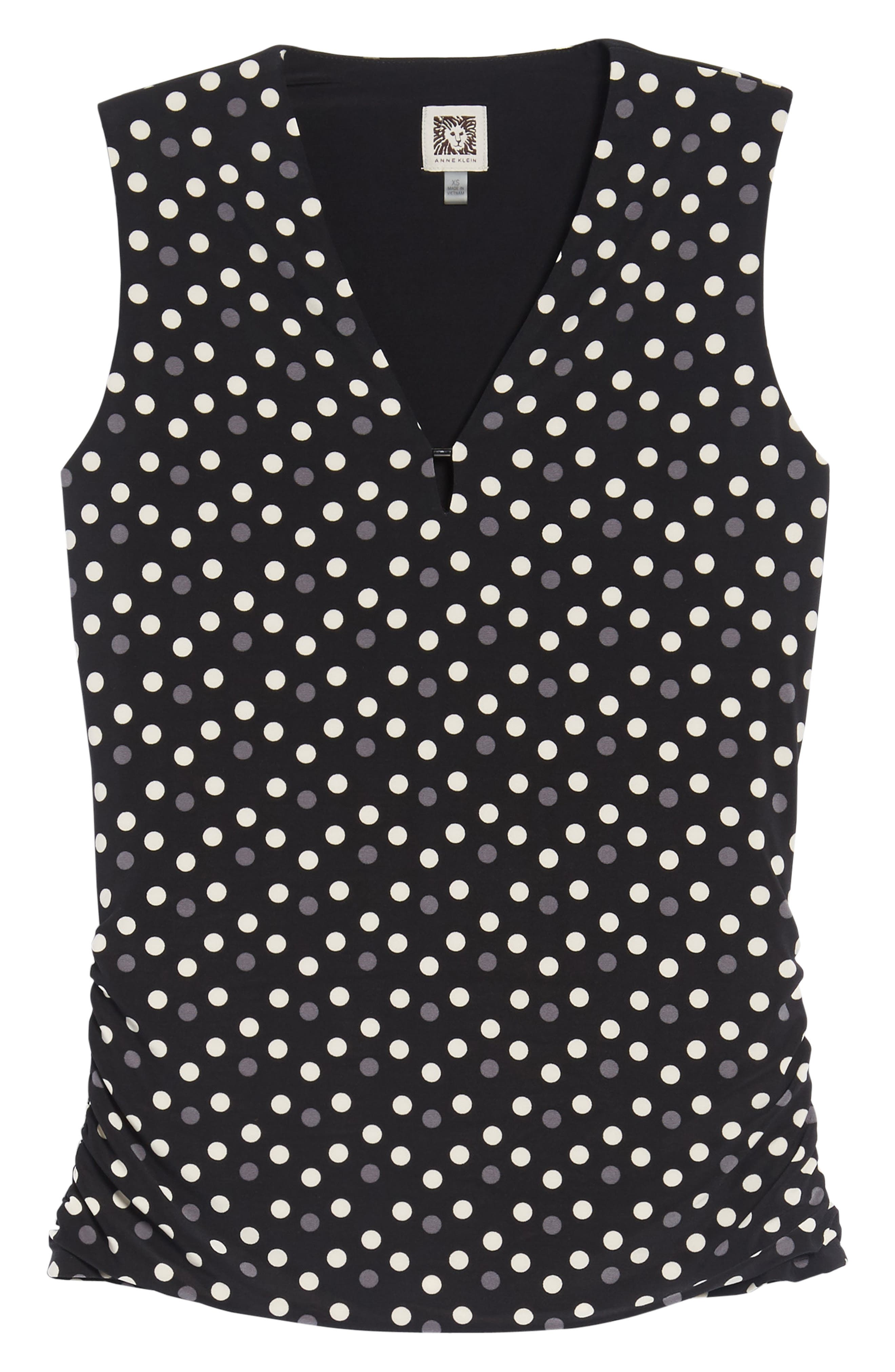 Splashy Dot Matte Jersey Top,                             Alternate thumbnail 6, color,