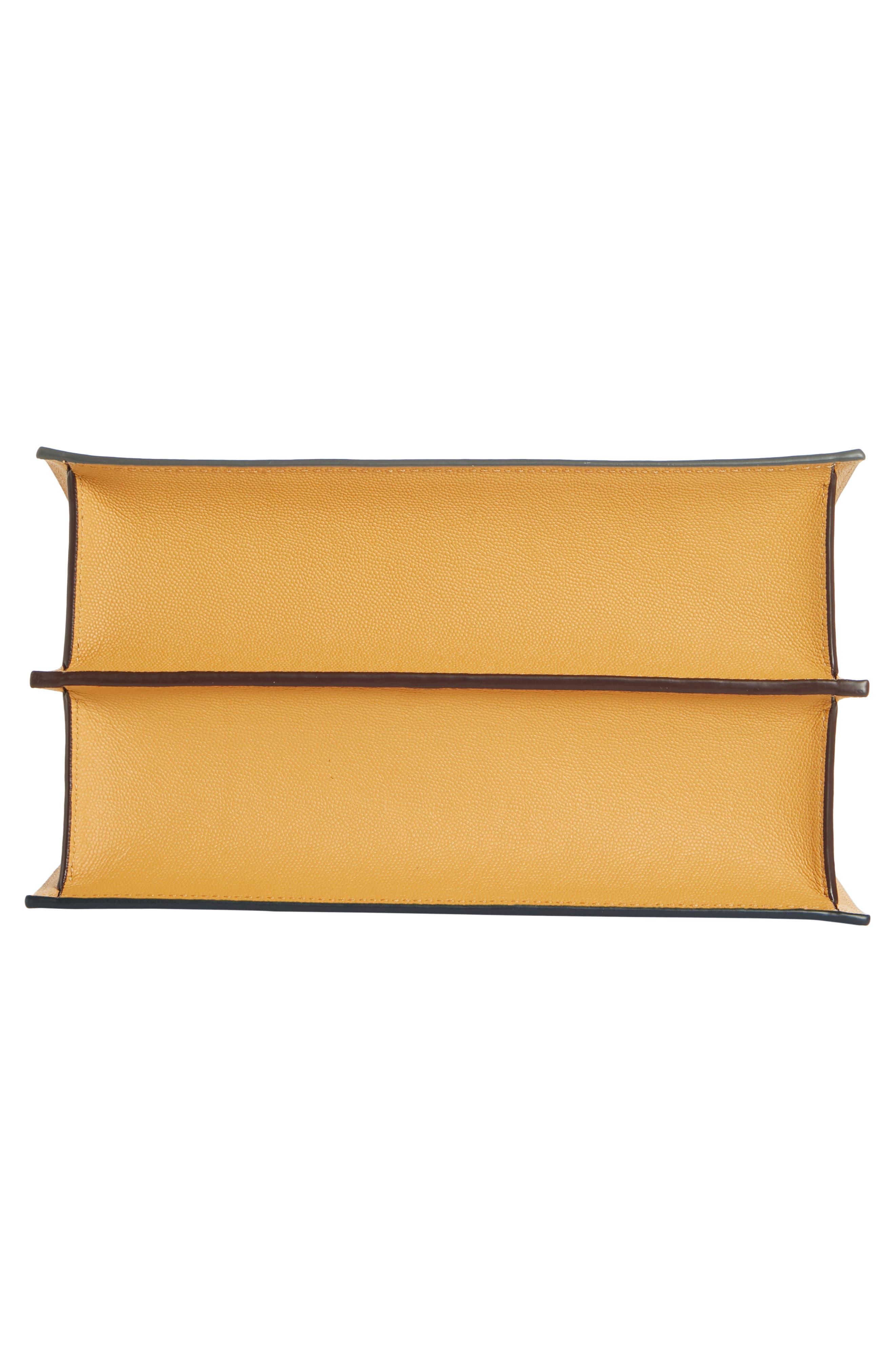Phoebe Leather Crossbody Bag,                             Alternate thumbnail 6, color,                             MARINE/ SAND
