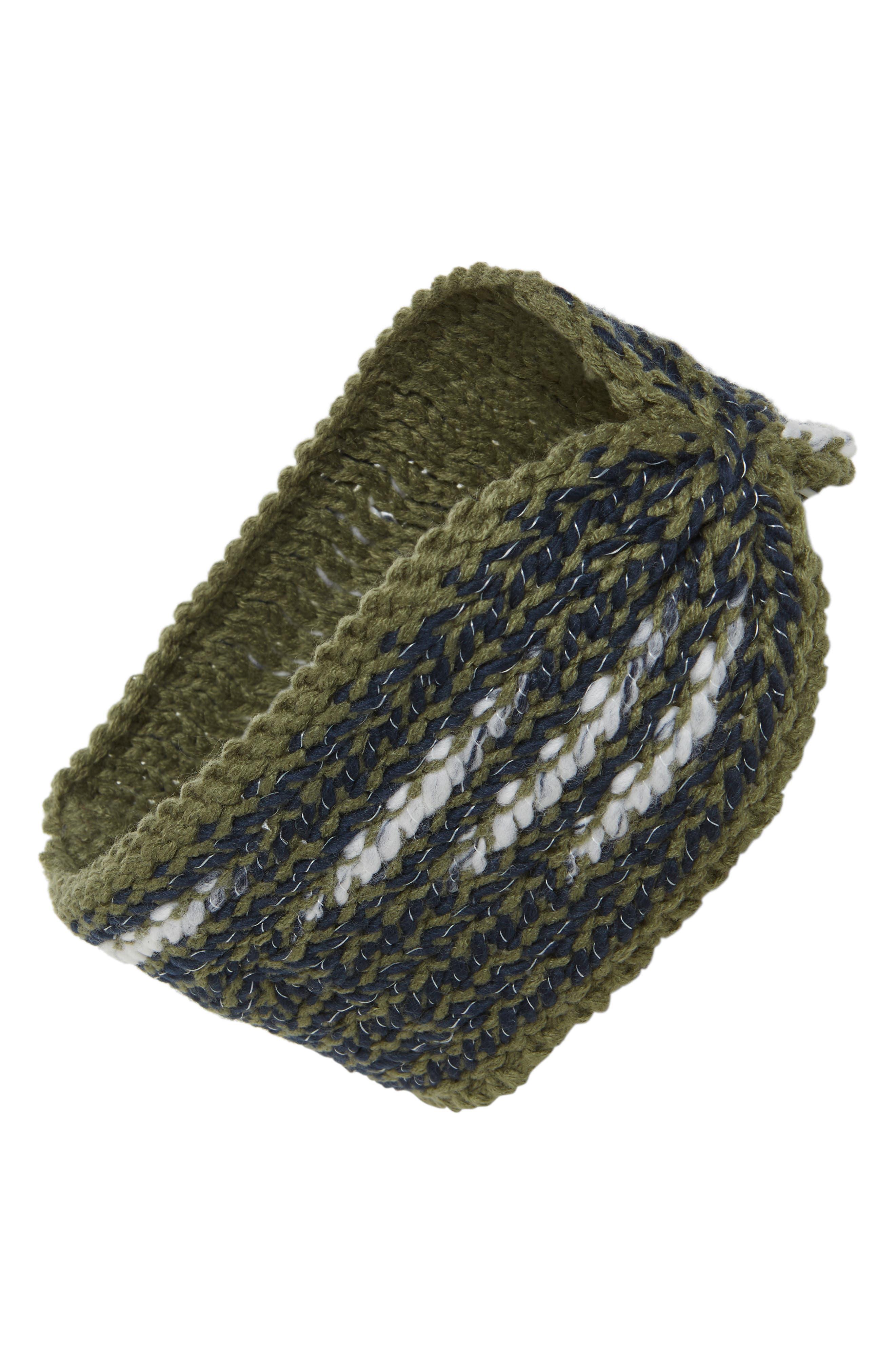 Kaylinda Headwrap,                         Main,                         color, FOUR LEAF CLOVER/ URBAN NAVY