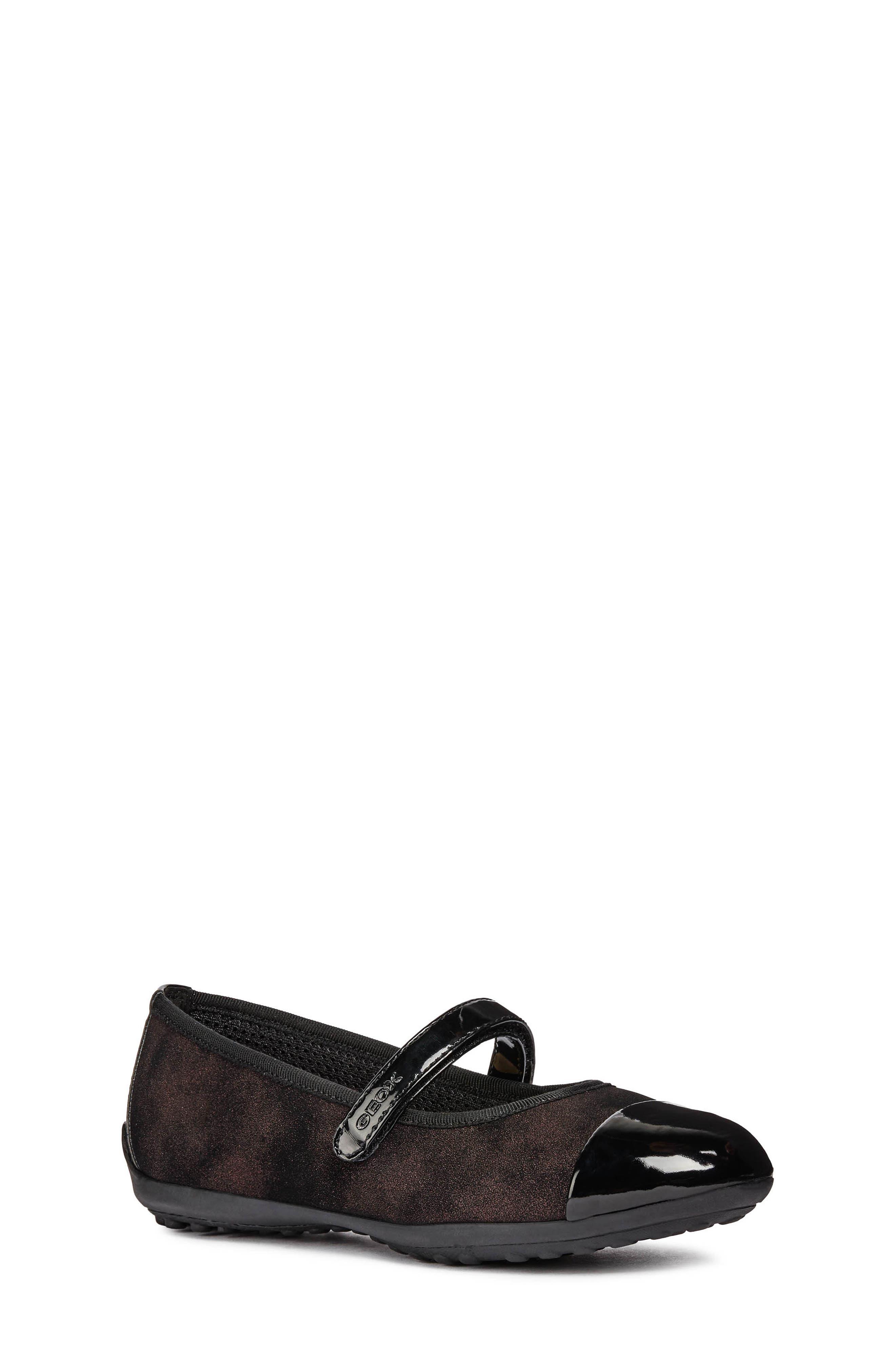 Piuma Mary Jane Flat,                         Main,                         color, BLACK/ BORDEAUX
