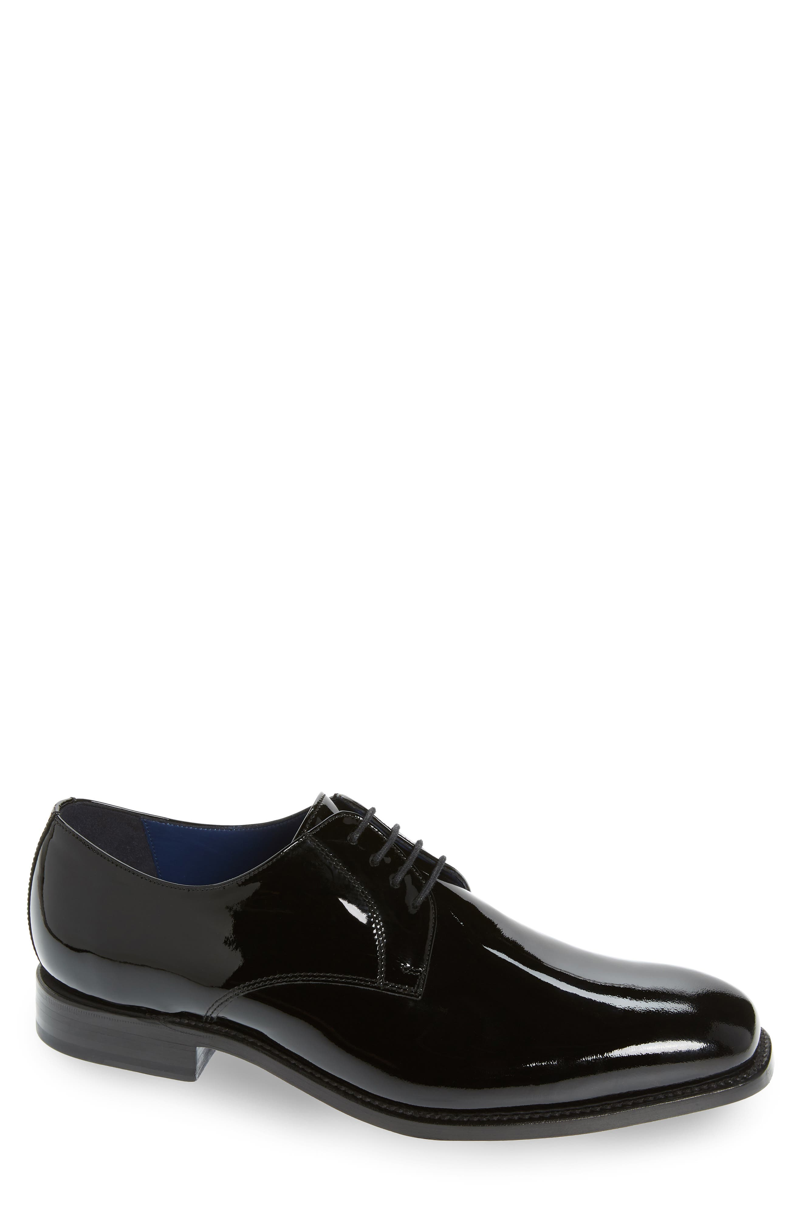 Alameda Plain Toe Derby,                             Main thumbnail 1, color,                             BLACK PATENT LEATHER