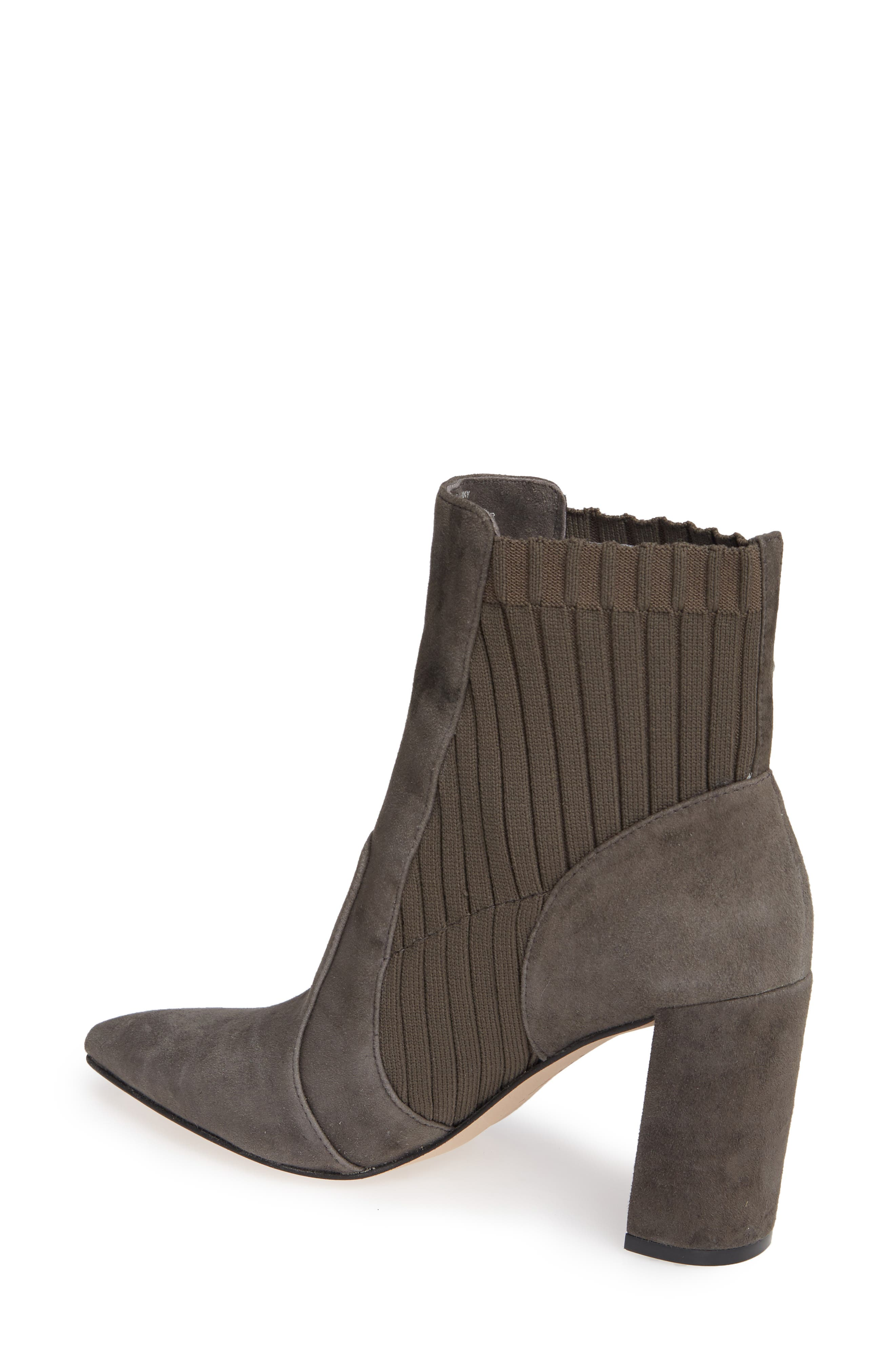 Salmay Sock Bootie,                             Alternate thumbnail 2, color,                             IRON SUEDE