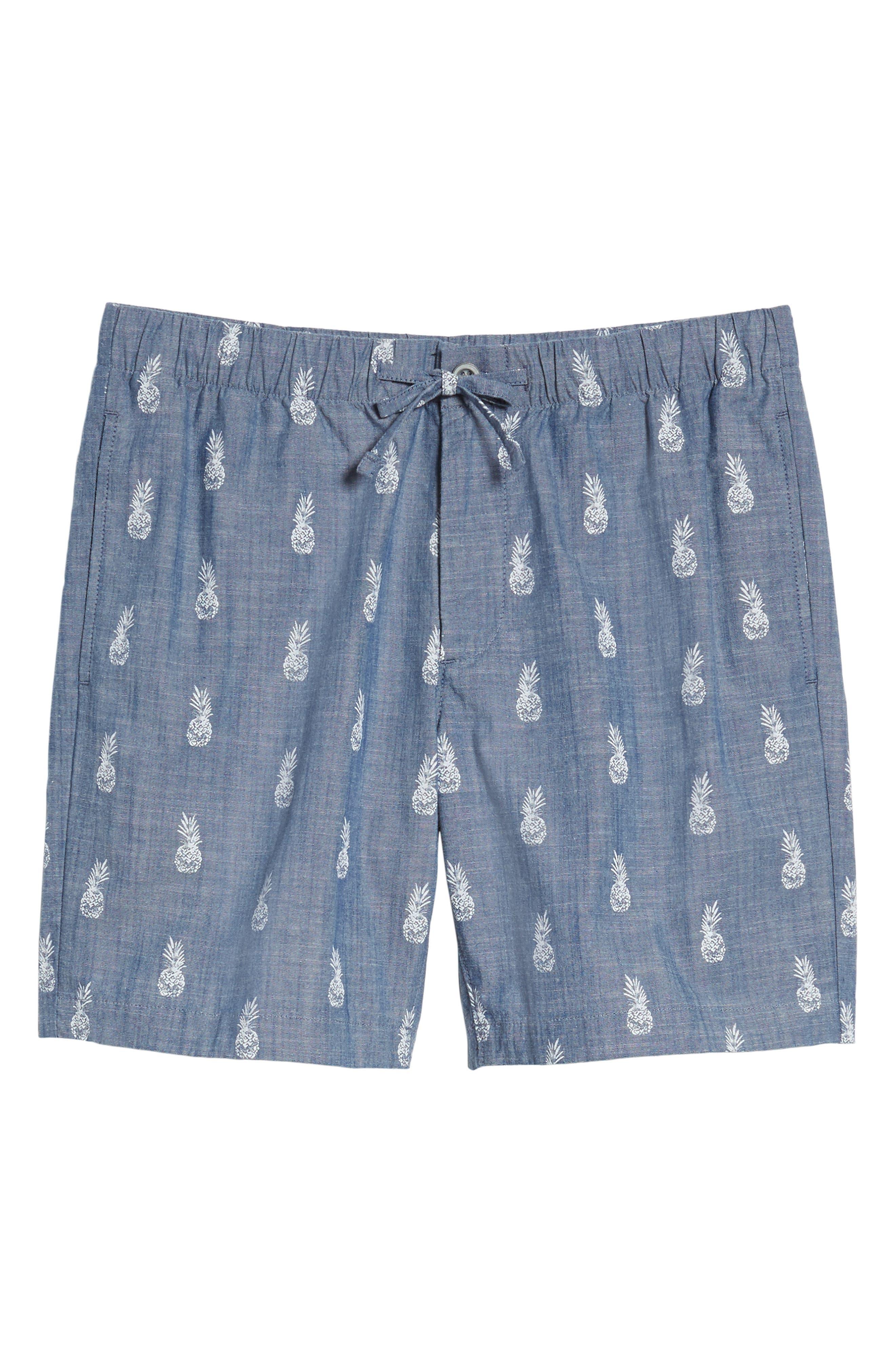 BONOBOS,                             Print Chambray Shorts,                             Alternate thumbnail 6, color,                             400
